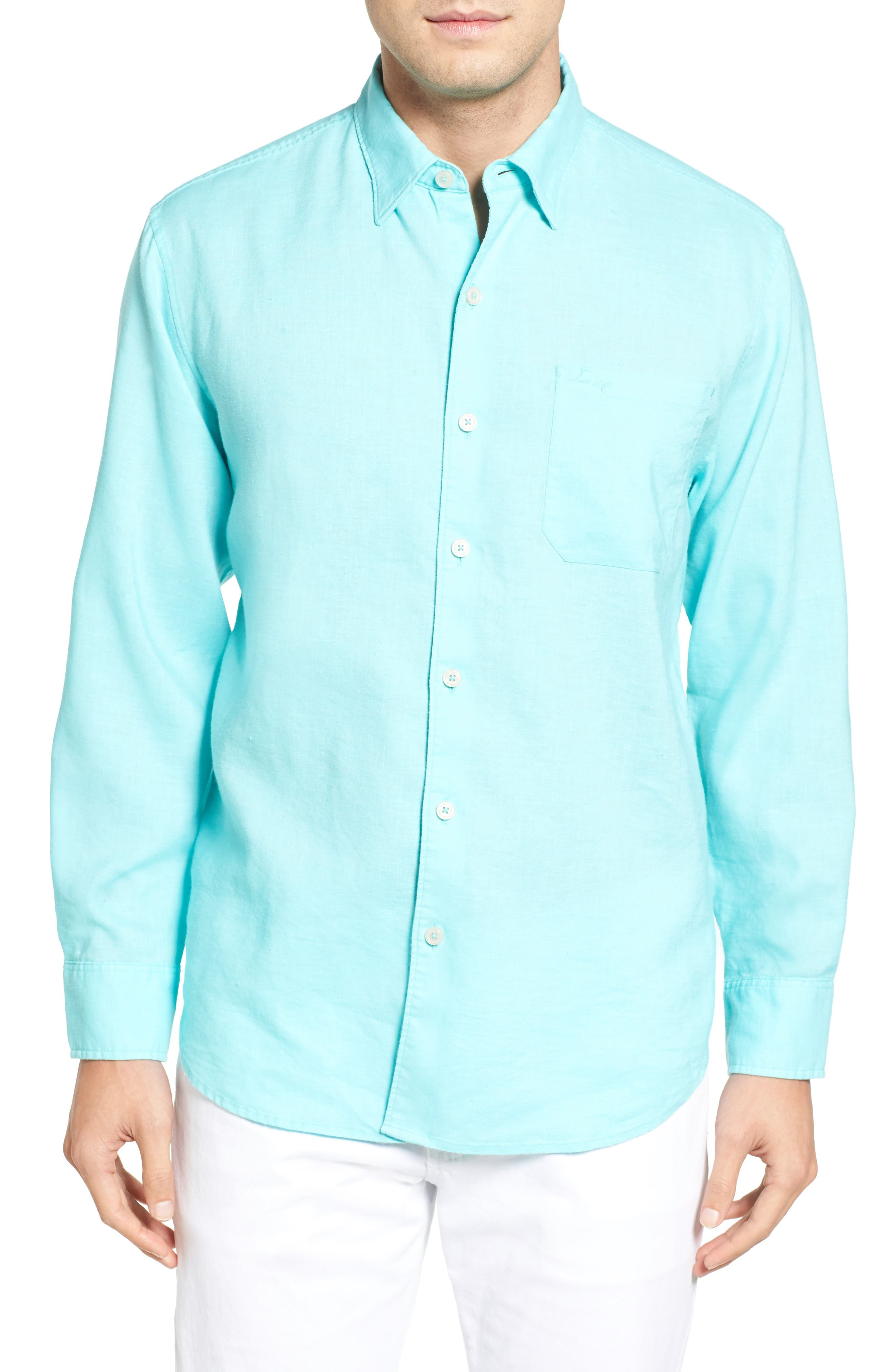 Tommy Bahama Monaco Tides Linen Blend Sport Shirt (Big & Tall)