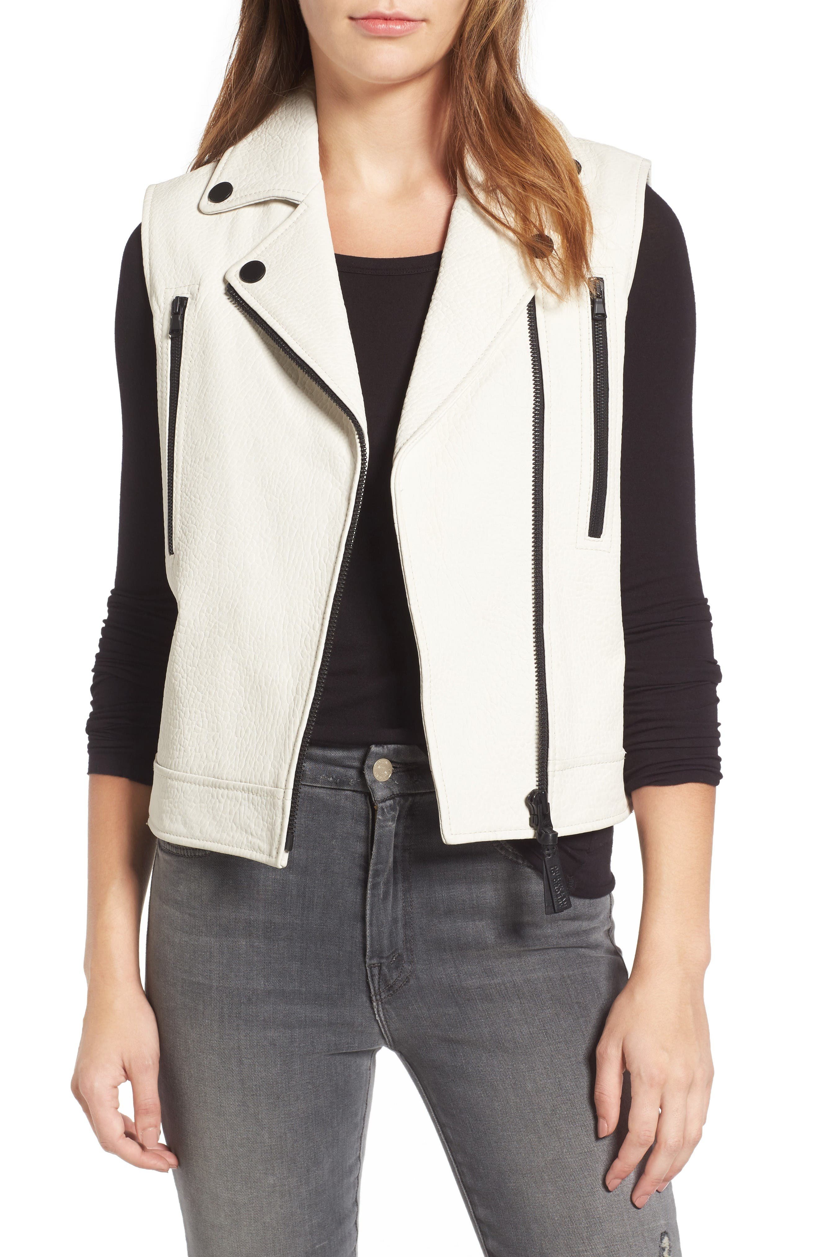 Derek Lam 10 Crosby Leather Moto Vest