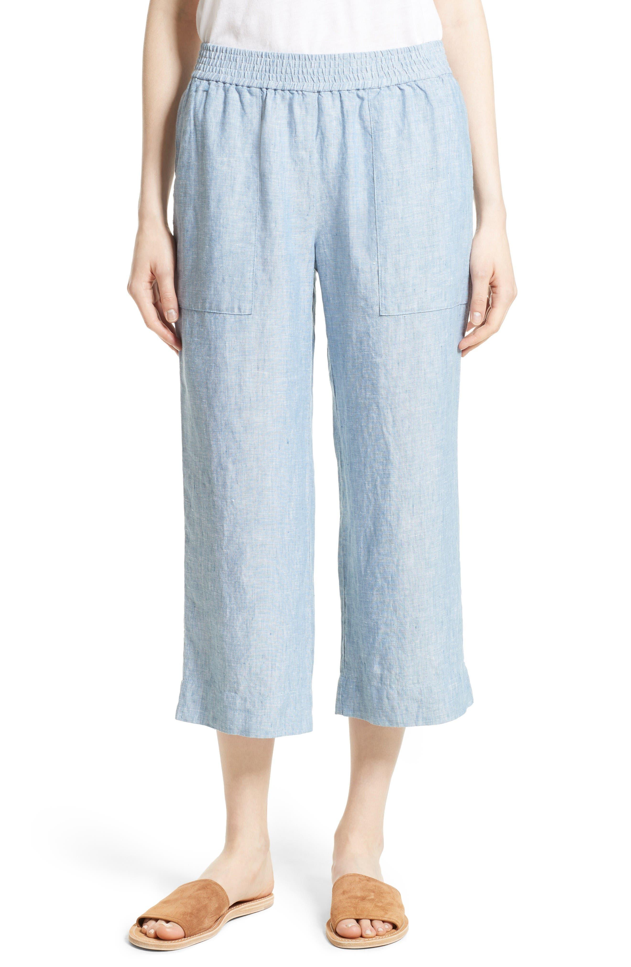 Joie Azelie Linen Crop Pants