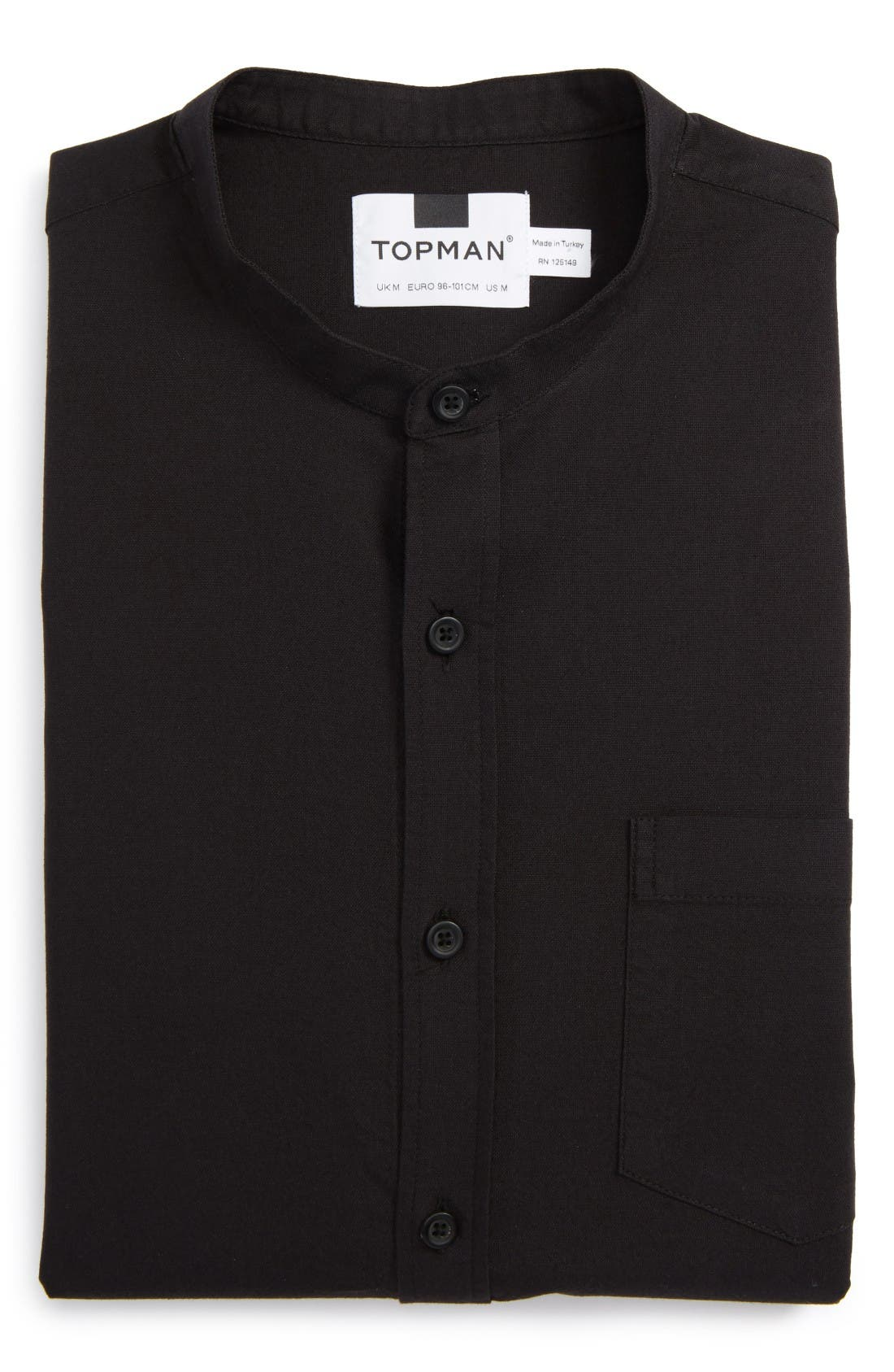 Topman Band Collar Shirt