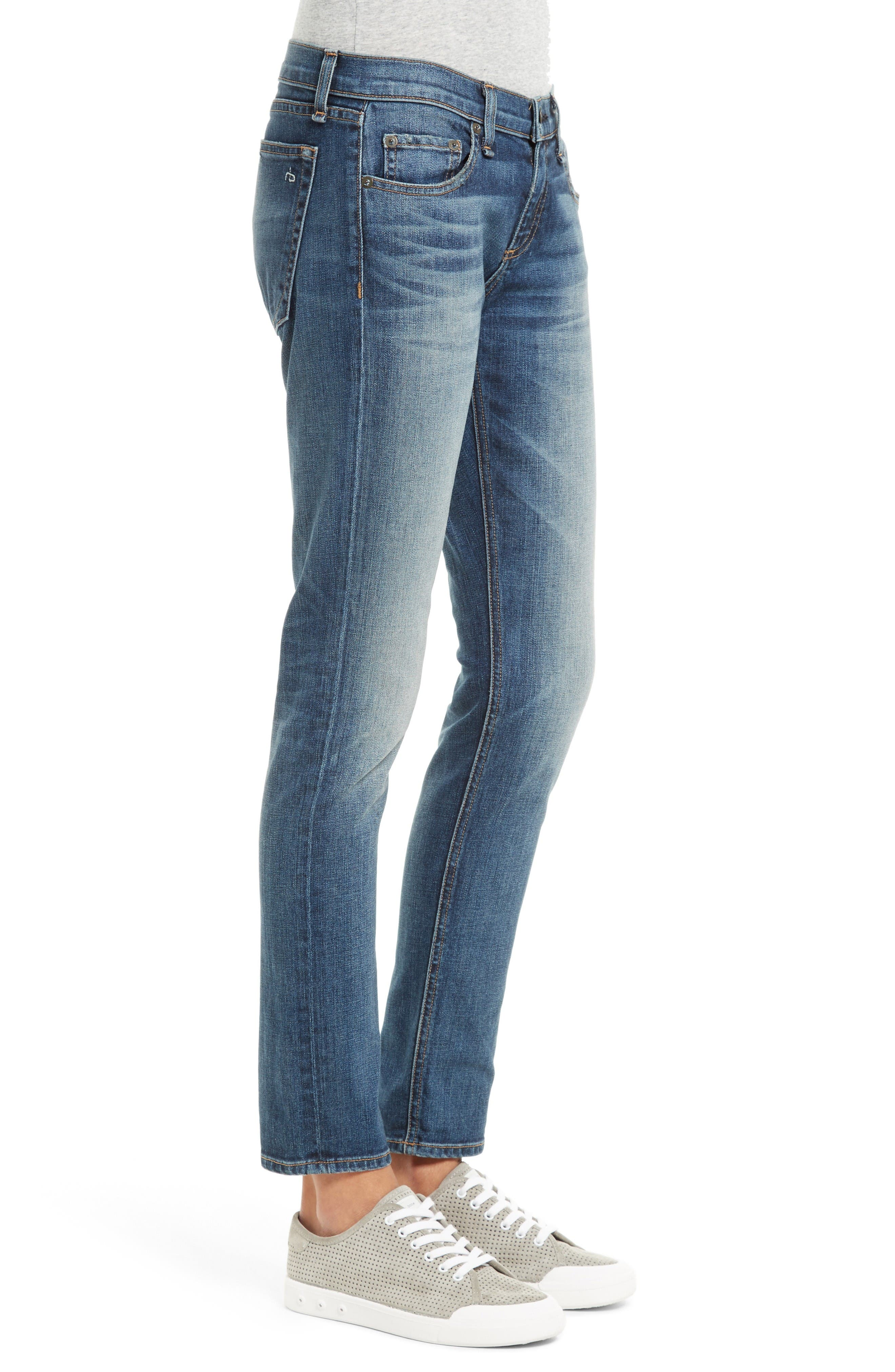 Alternate Image 3  - rag & bone/JEAN The Dre Slim Boyfriend Jeans (Bard)