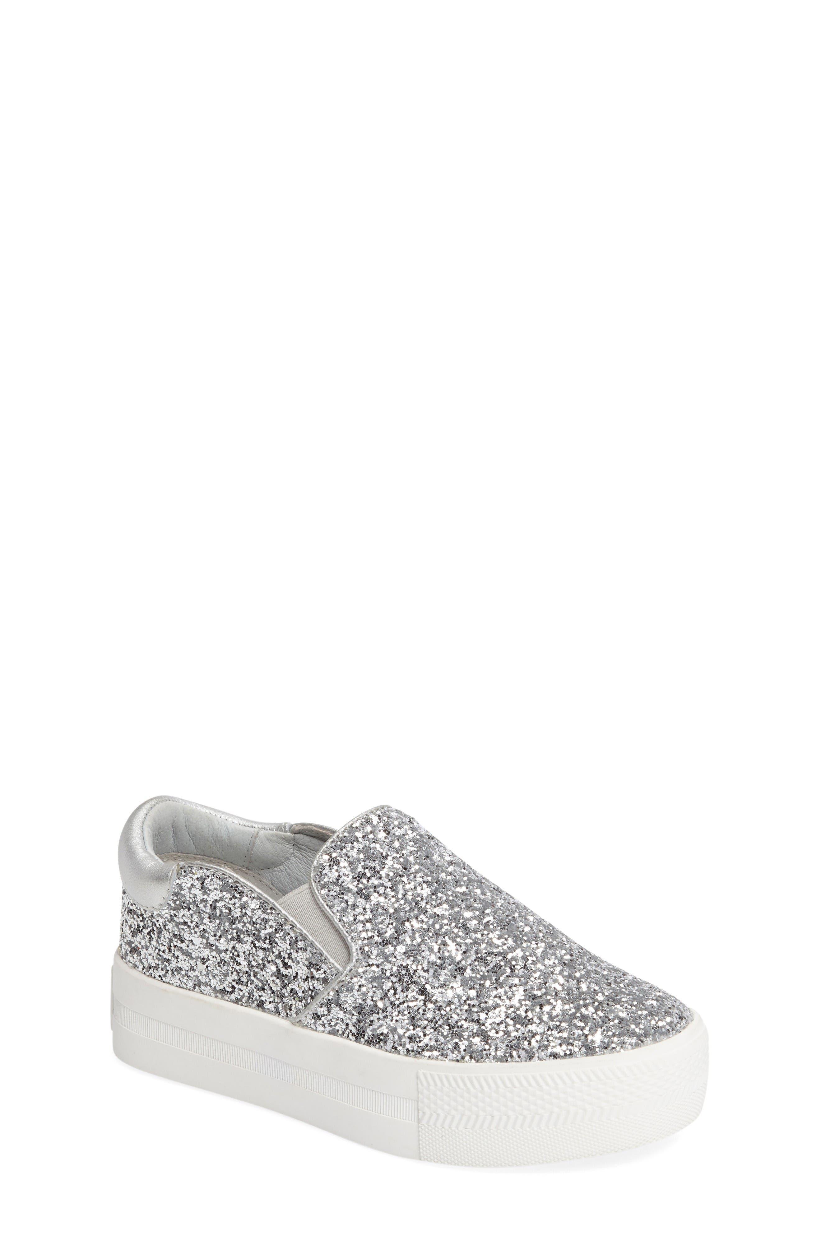 ASH Lynn Glitter Platform Slip-On Sneaker