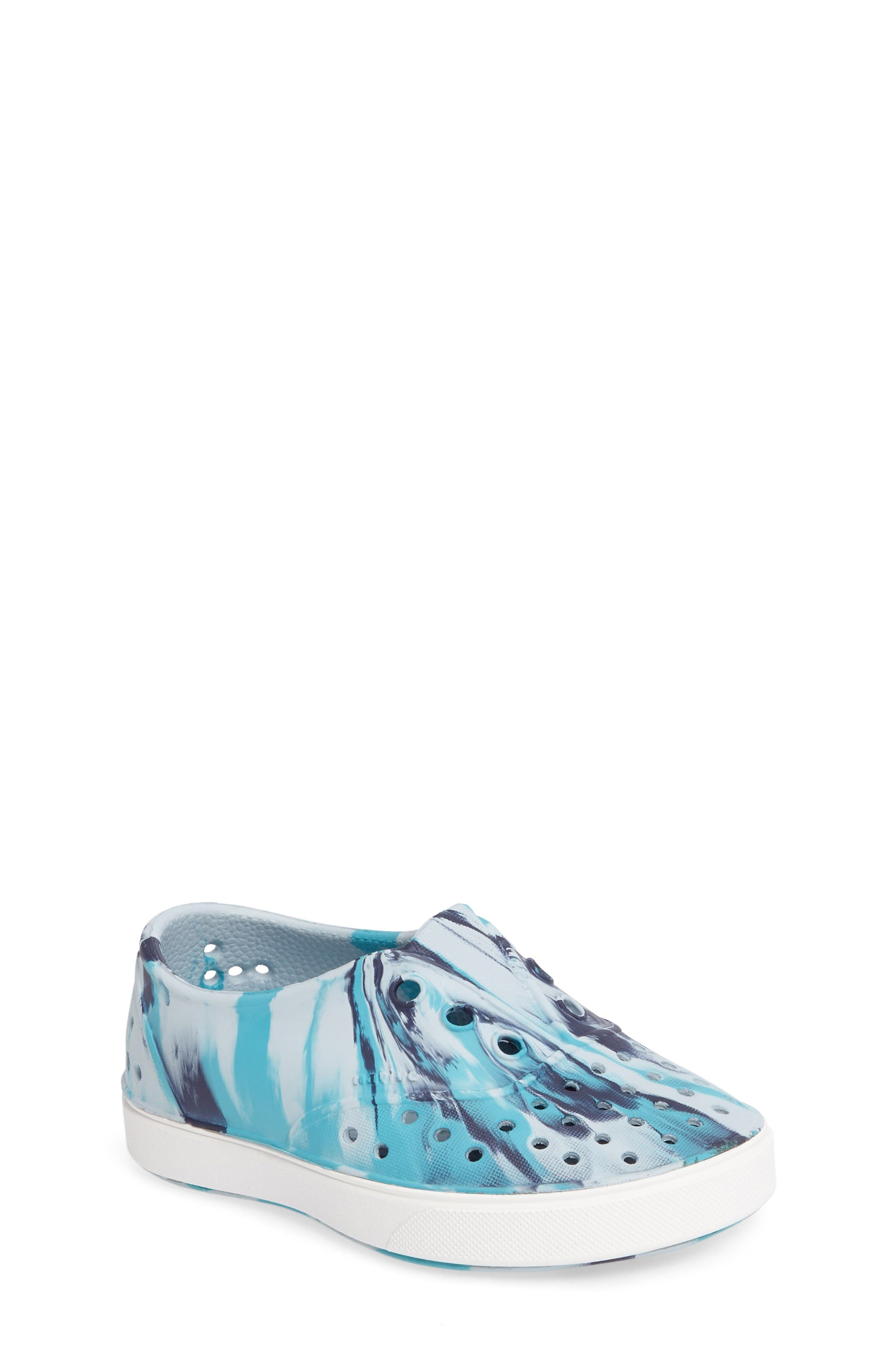 Native Shoes 'Miller - Marbled' Perforated Slip-On (Baby, Walker, Toddler & Little Kid)