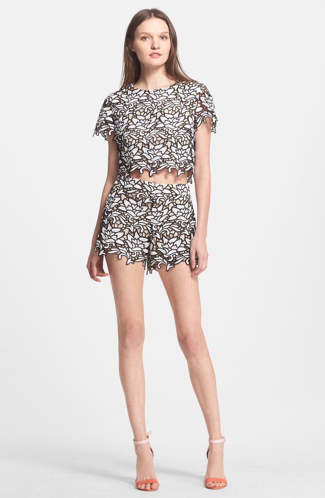 Alternate Image 3  - Alice + Olivia High Waist Lace Shorts