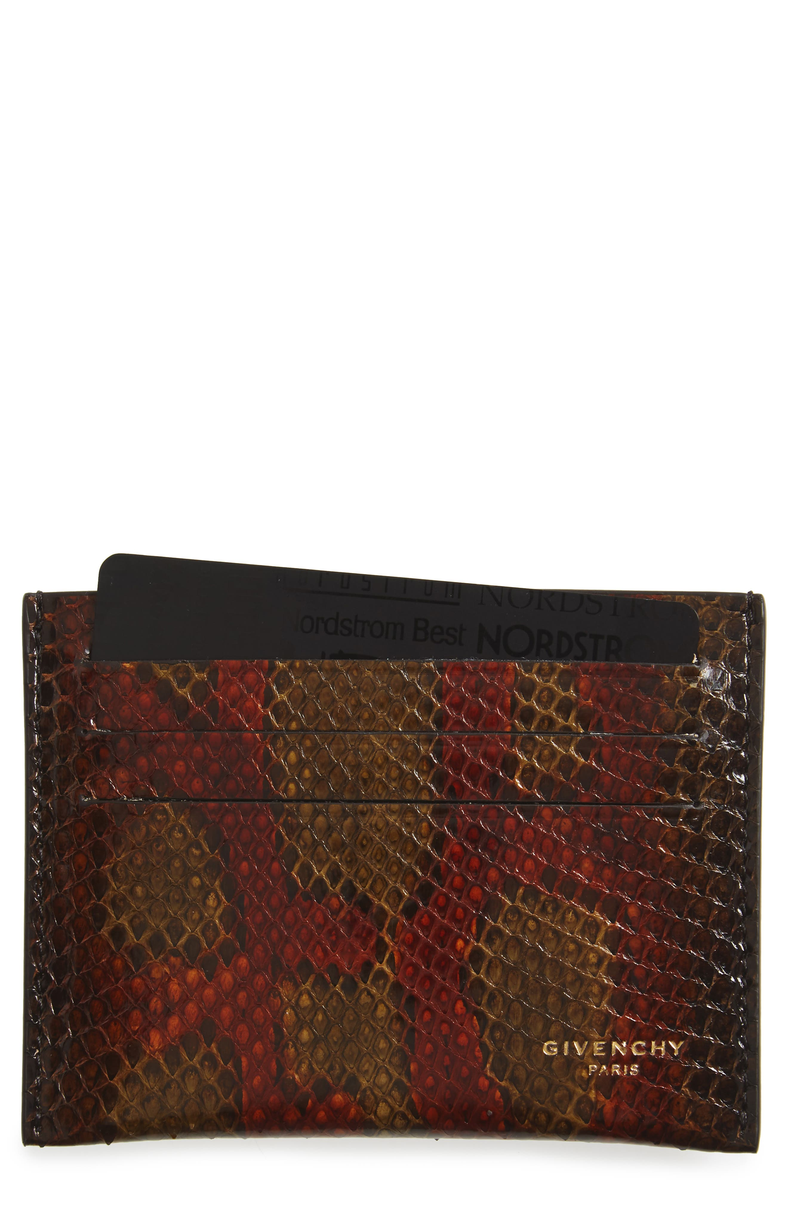 Givenchy Genuine Python Card Case