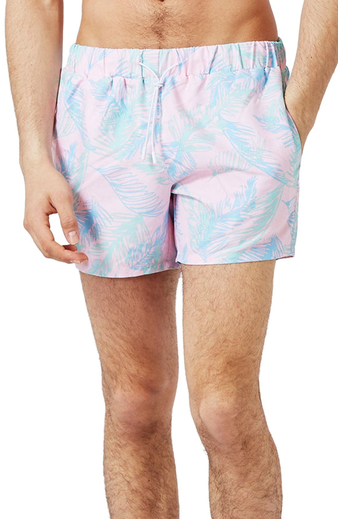Topman Leaf Swim Shorts