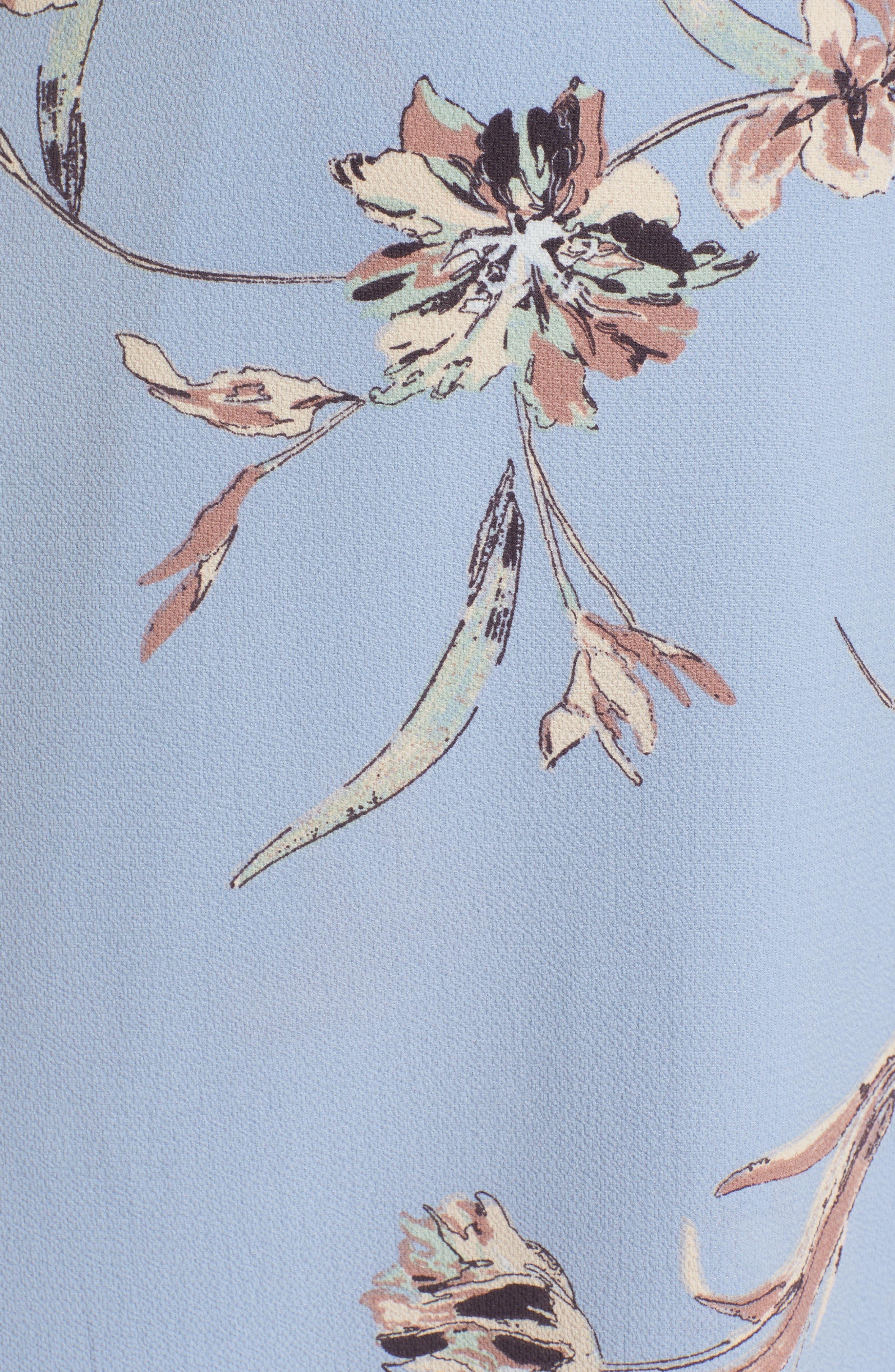 Alternate Image 5  - Lush Floral Print Cold Shoulder Wrap Dress