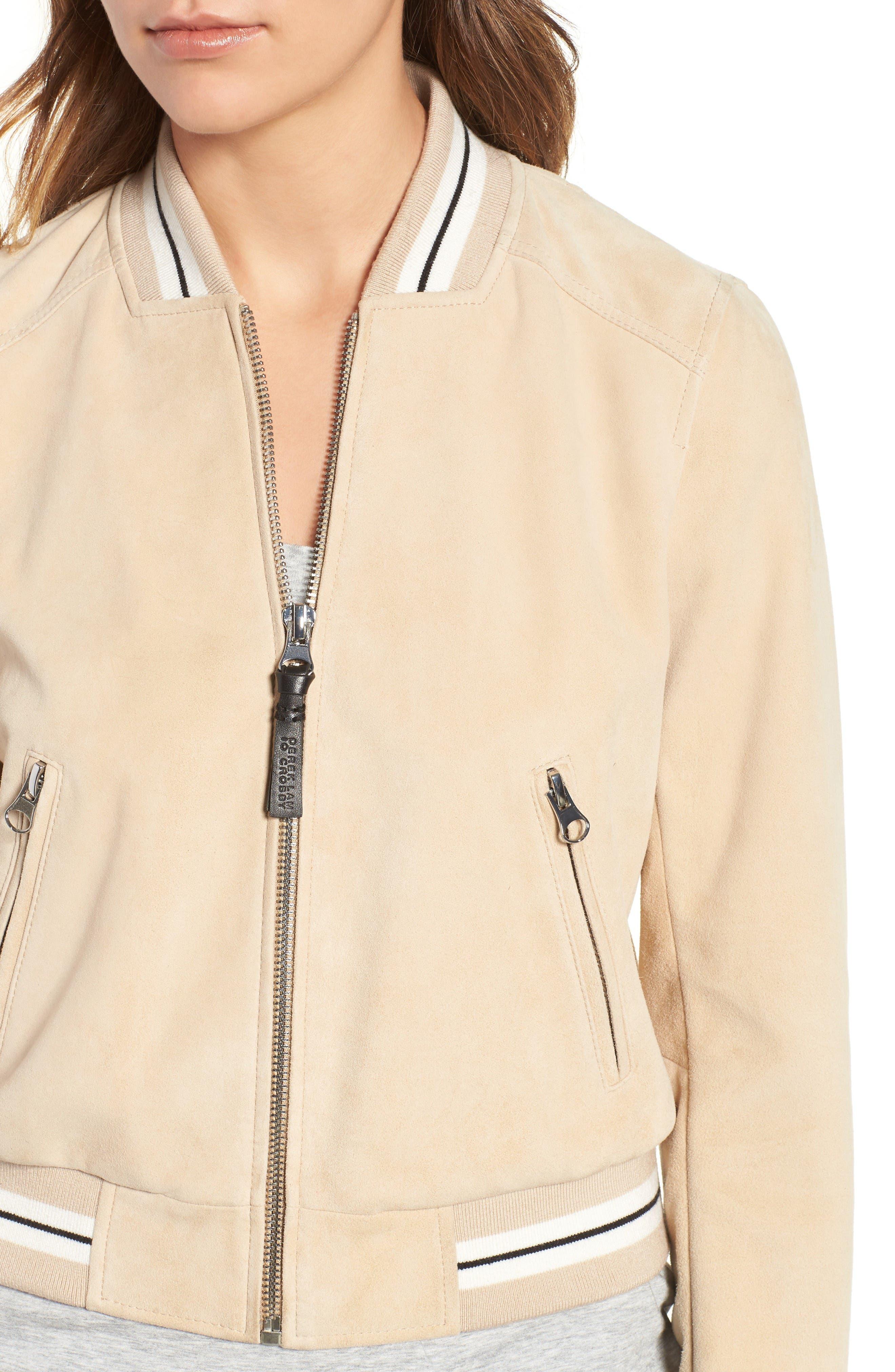 Alternate Image 4  - Derek Lam 10 Crosby Suede Varsity Jacket