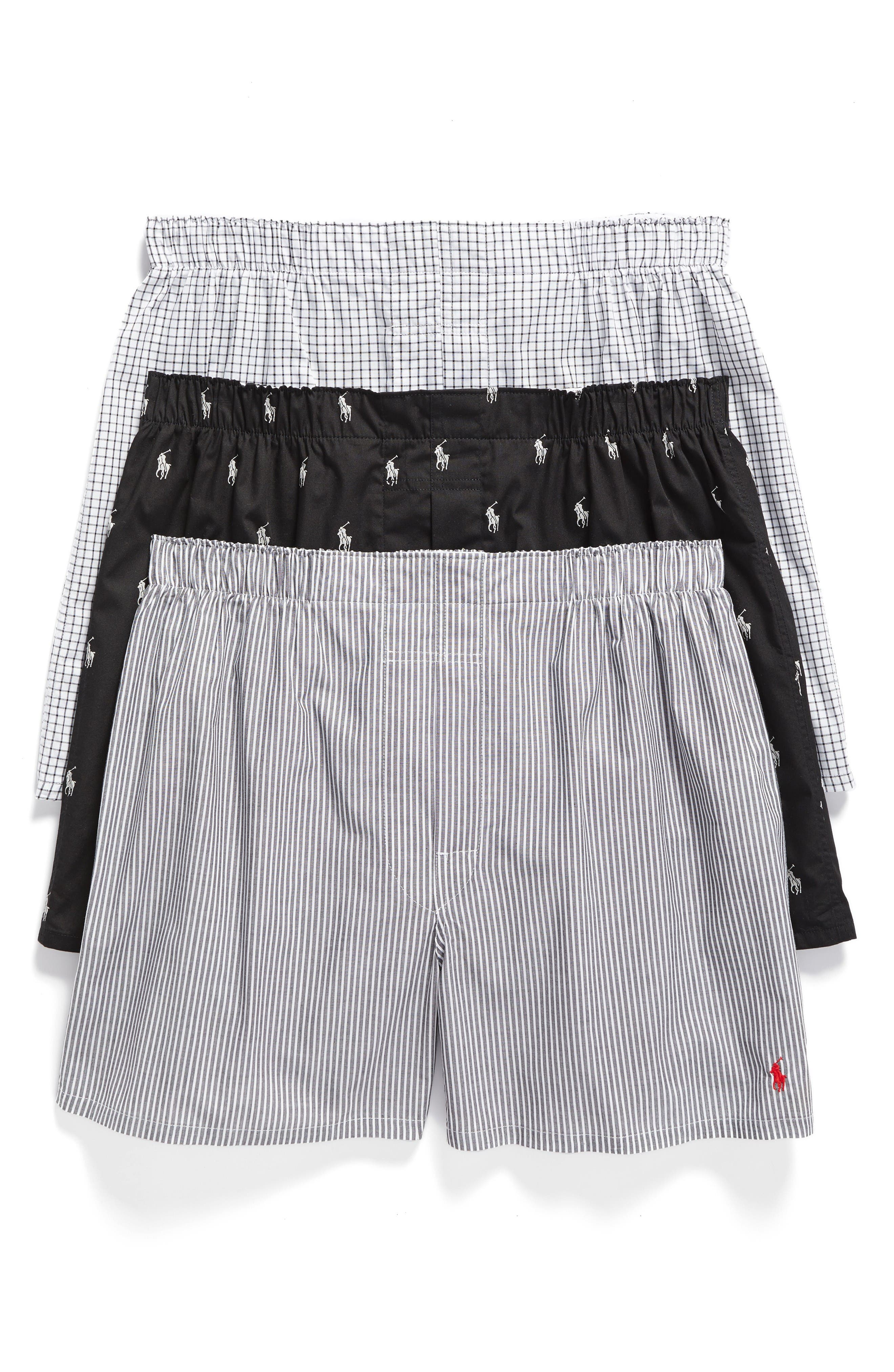 Polo Ralph Lauren 3-Pack Woven Cotton Boxers