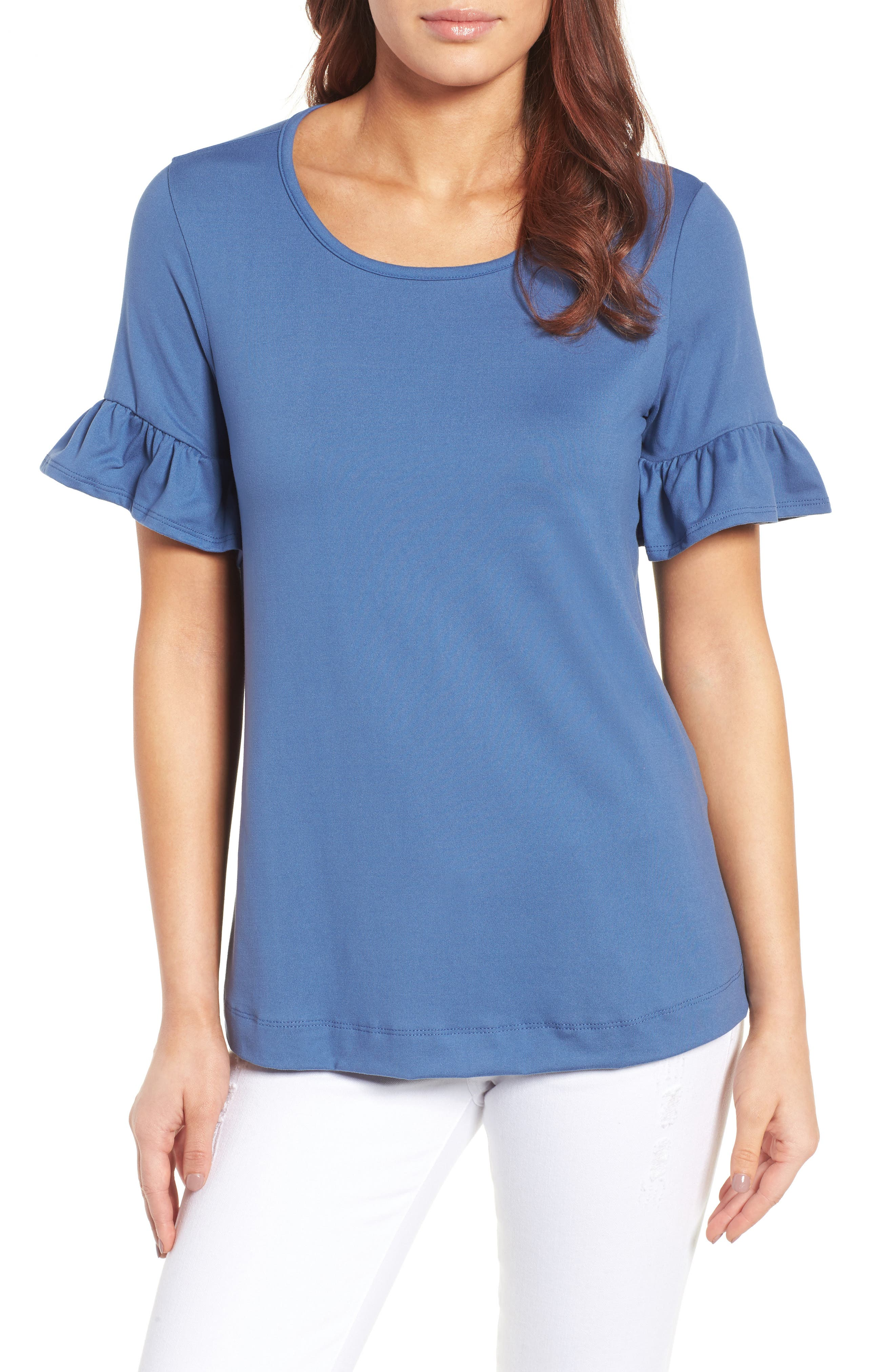 Alternate Image 1 Selected - Bobeau Bell Sleeve Tee (Regular & Petite)