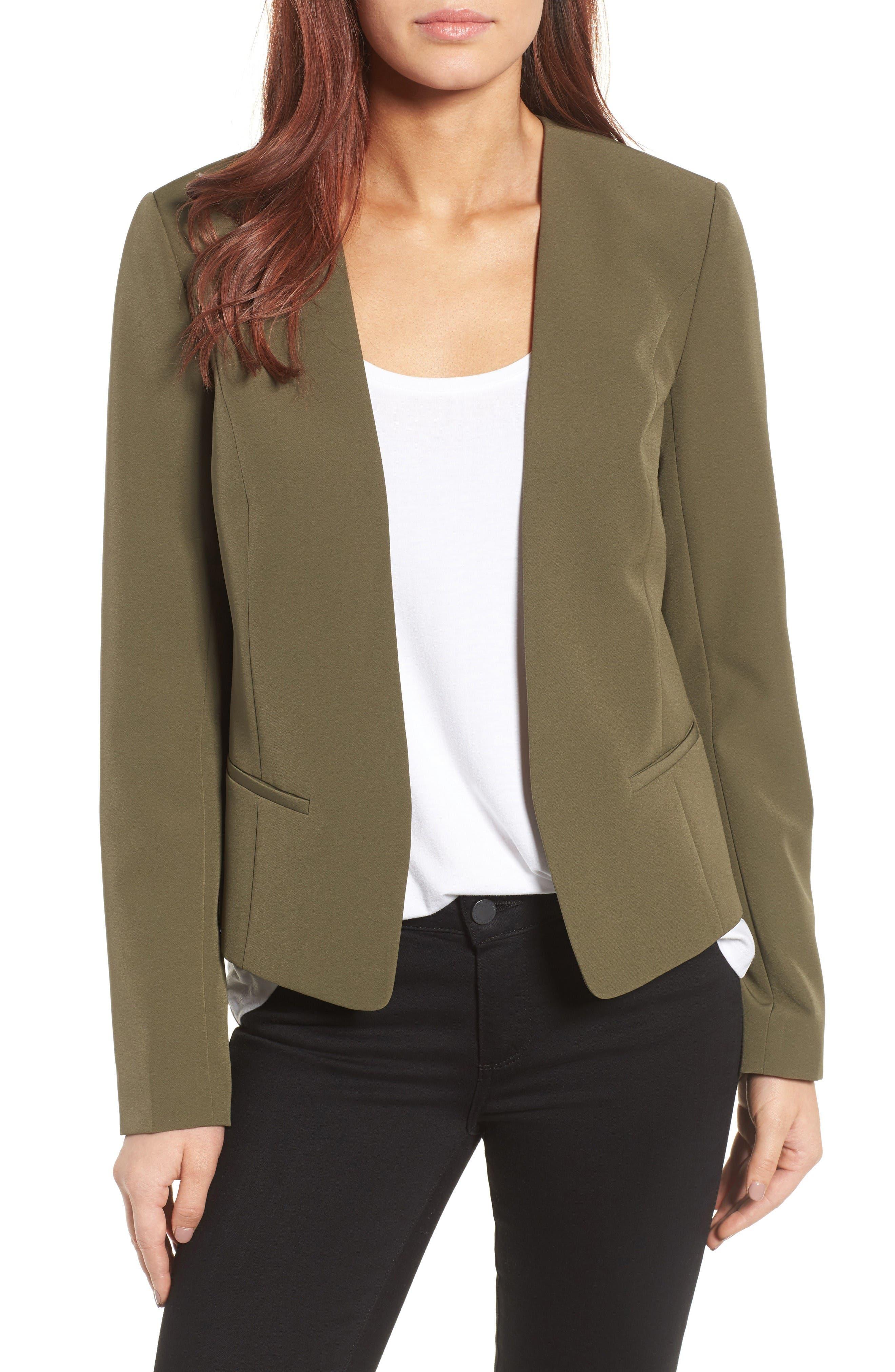 Halogen® Open Front Jacket (Regular & Petite)