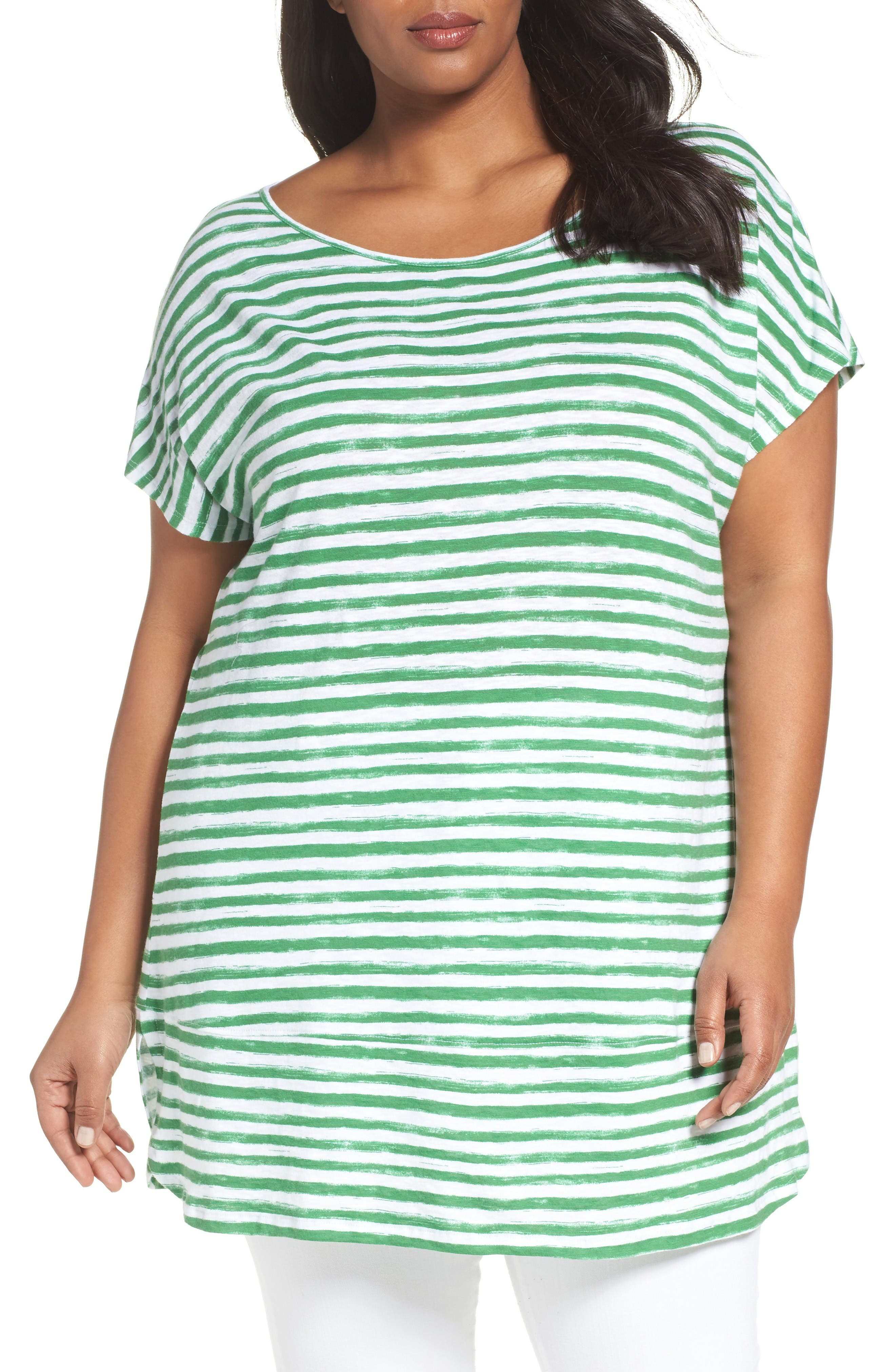 Sejour Wide Neck Tunic Tee (Plus Size)