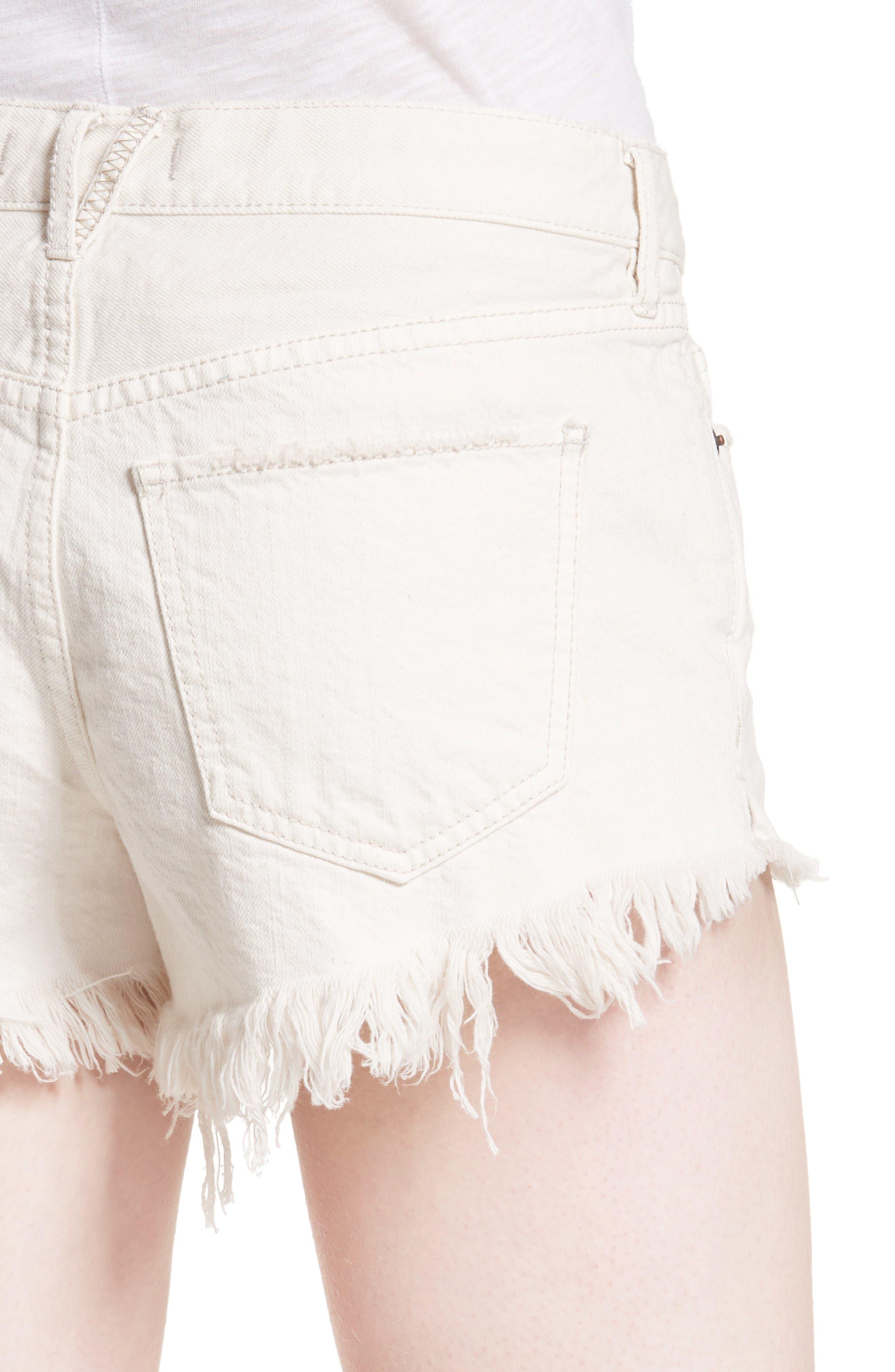 Alternate Image 4  - Free People Cutoff Denim Shorts