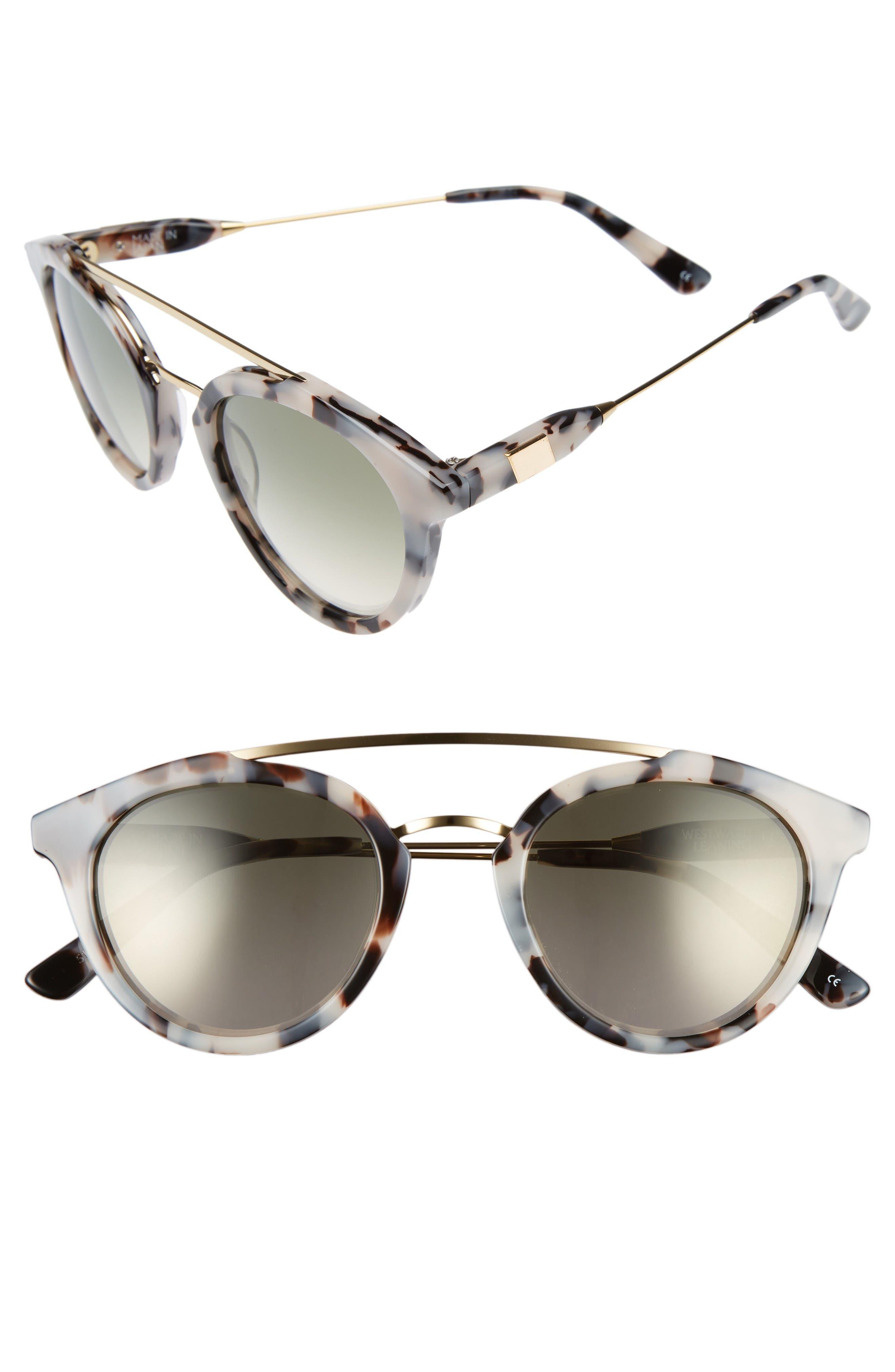 Westward Leaning Double Bridge 51mm Sunglasses