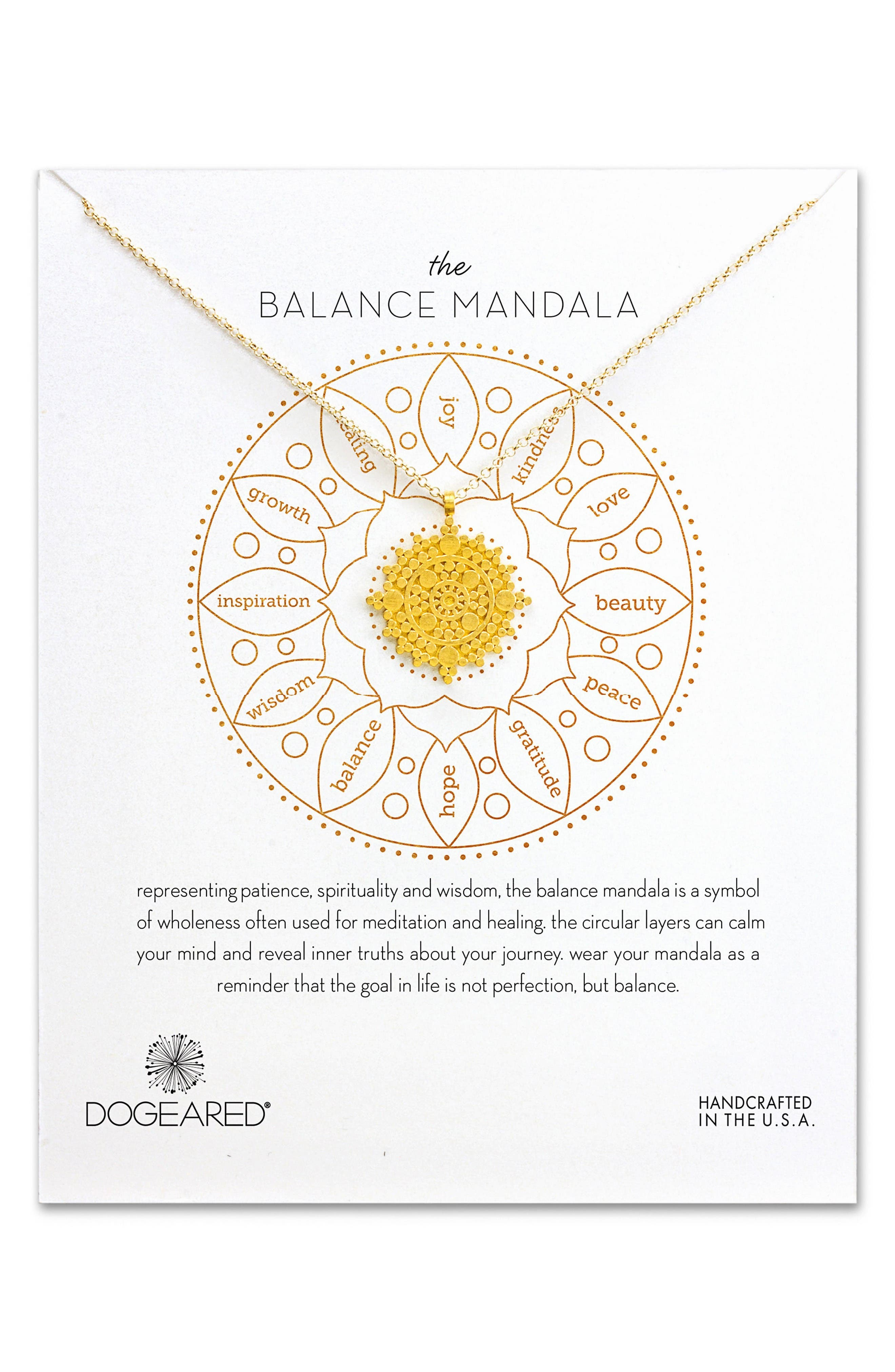 Alternate Image 1 Selected - Dogeared The Balance Mandala Pendant Necklace