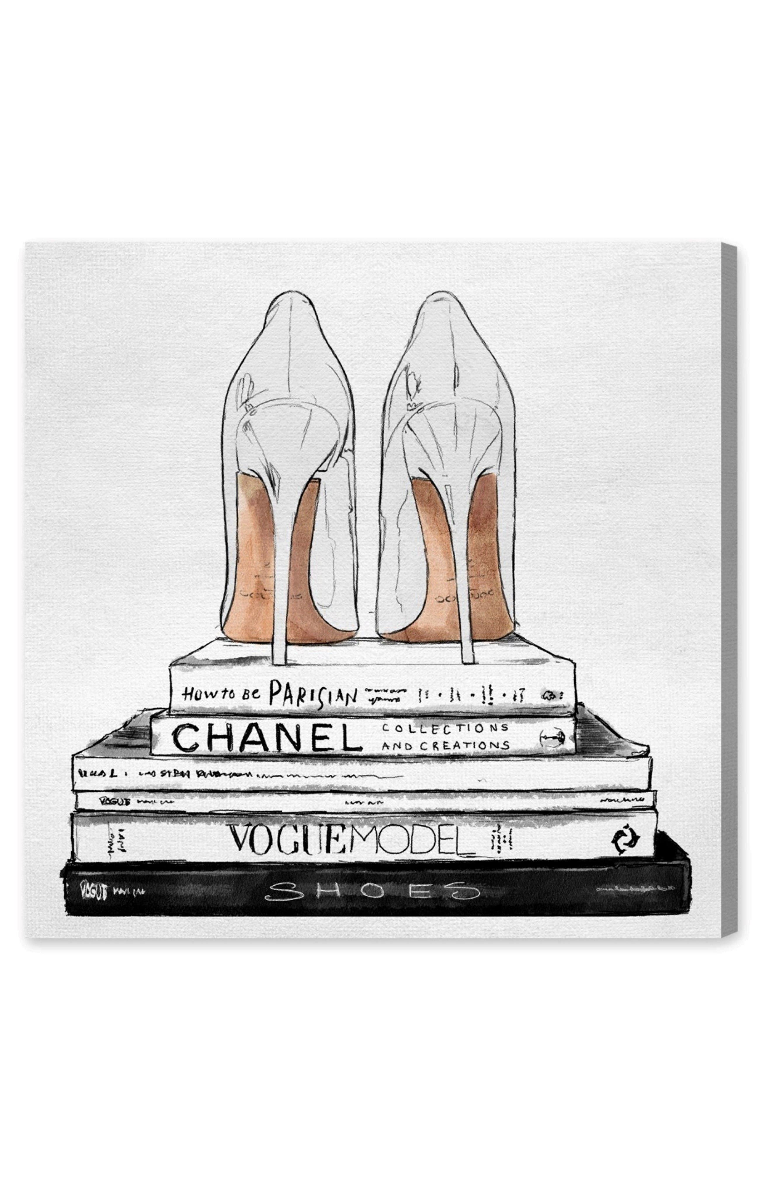 Main Image - Oliver Gal Standalone Shoes Canvas Wall Art