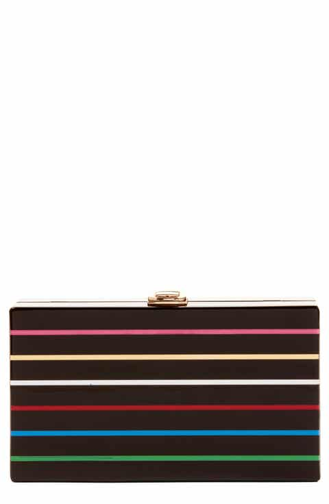 Nordstrom Metallic Stripe Box Clutch