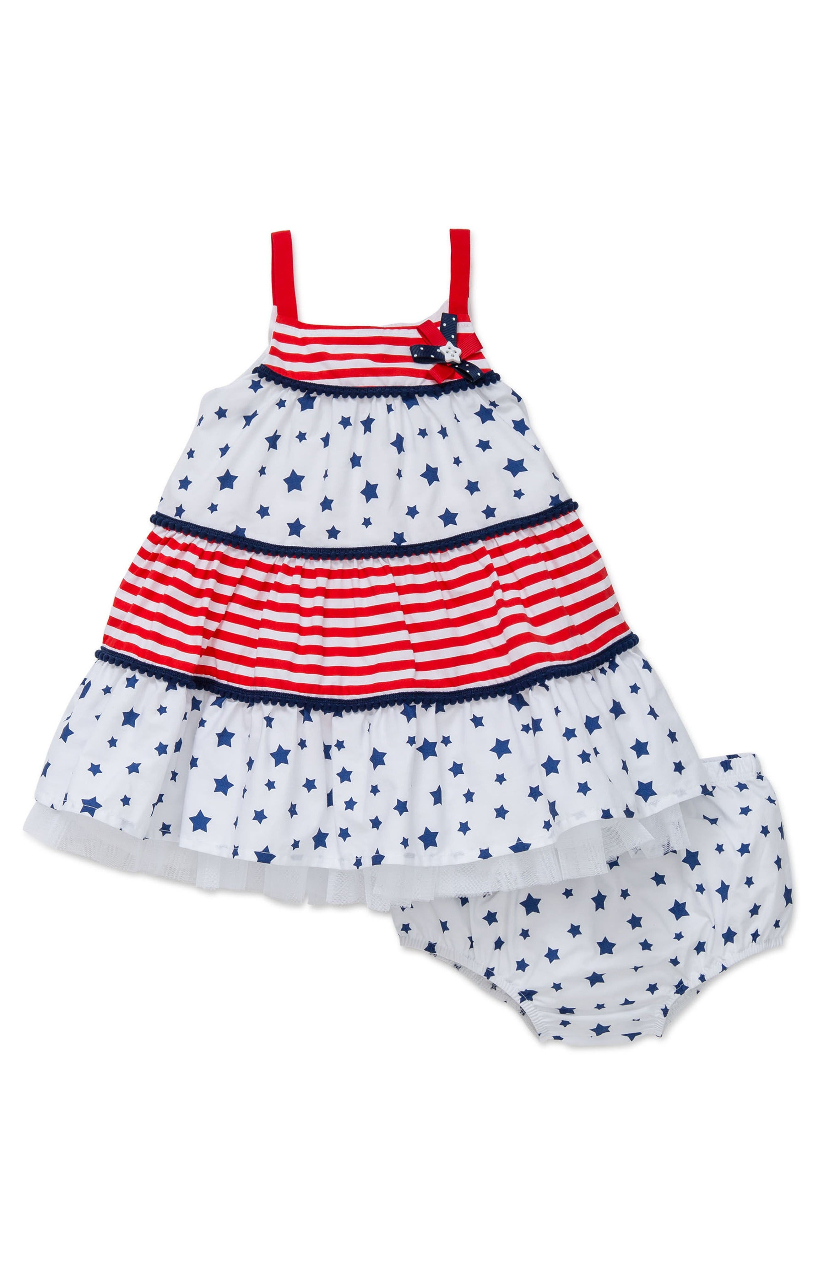 Little Me Americana Sundress (Baby Girls)
