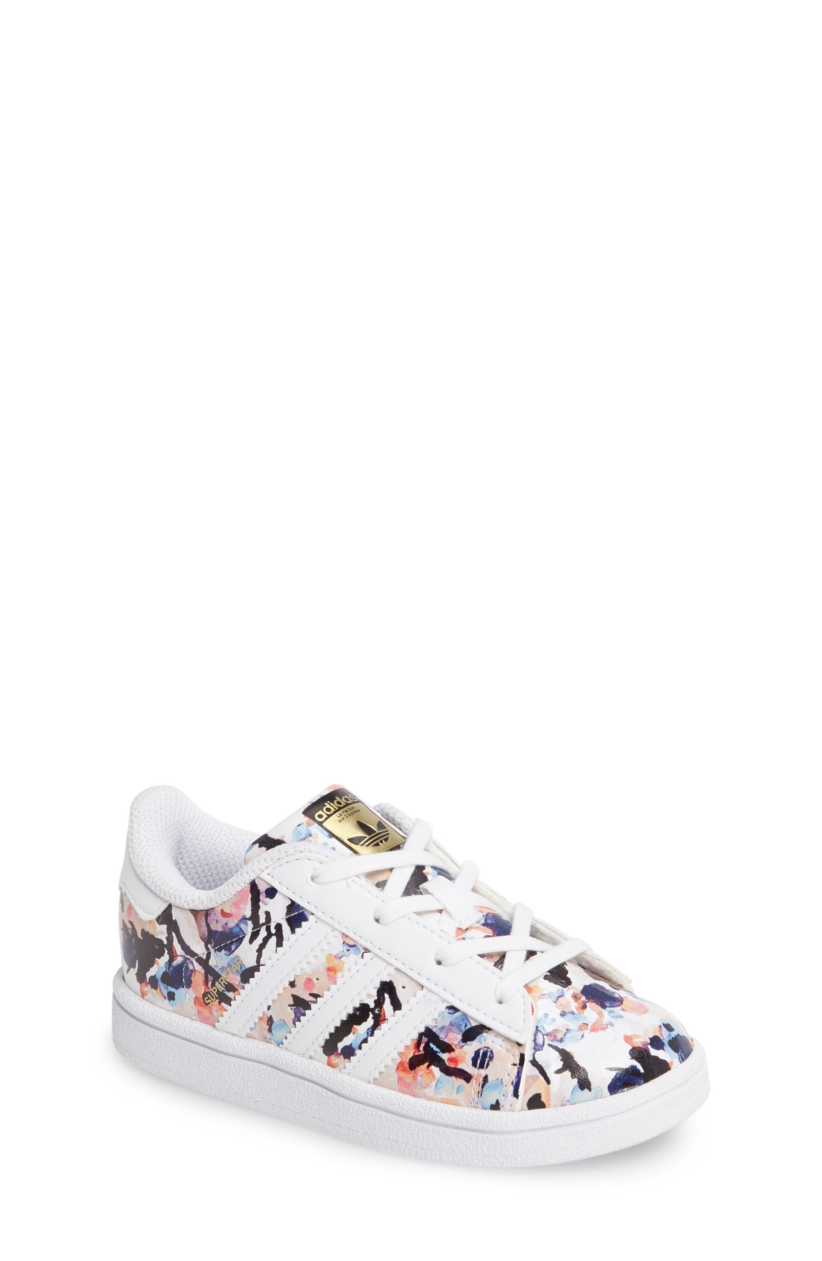 adidas Graphic Superstar Sneaker (Baby, Walker & Toddler)