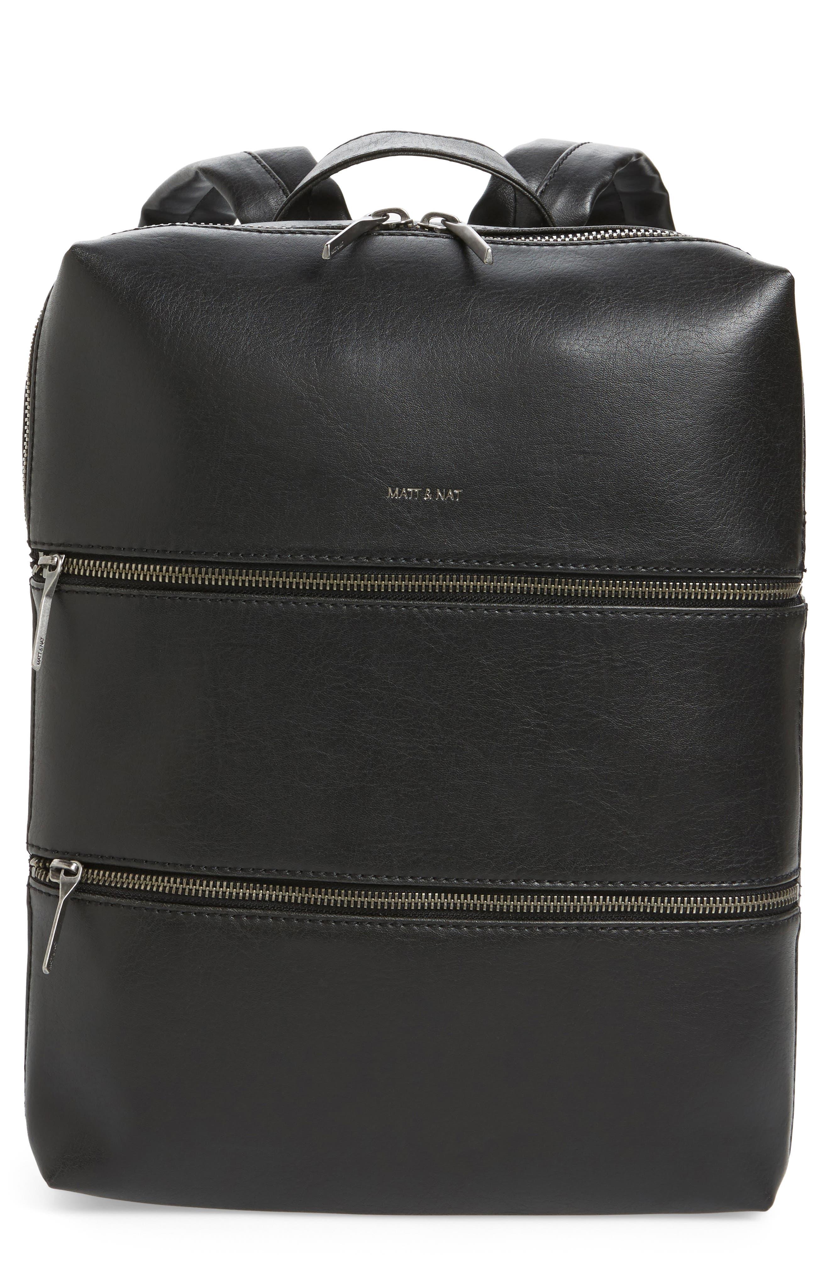 Alternate Image 1 Selected - Matt & Nat Slate Faux Leather Backpack
