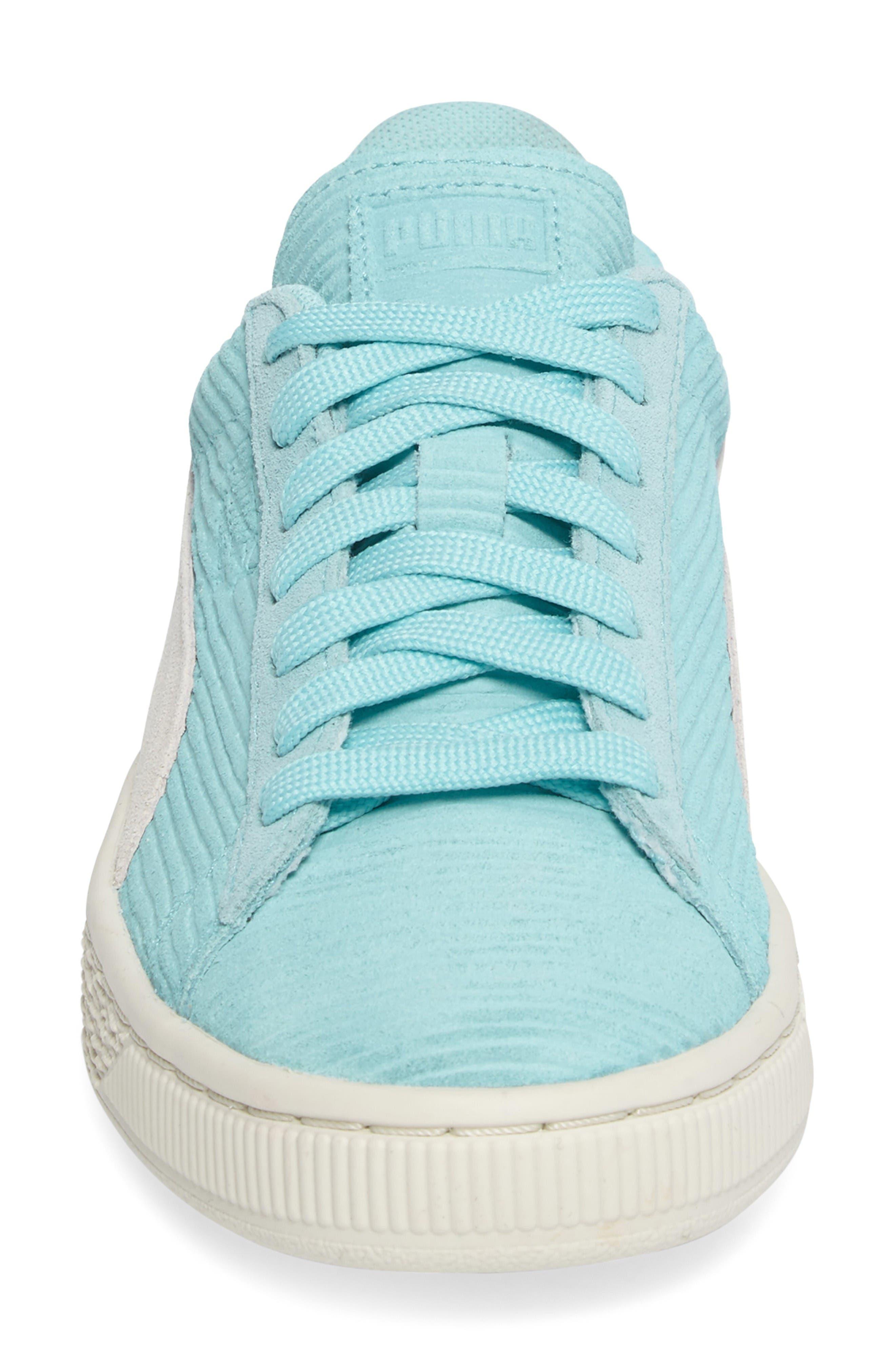 Alternate Image 4  - PUMA Suede Classic Embossed Sneaker (Women)