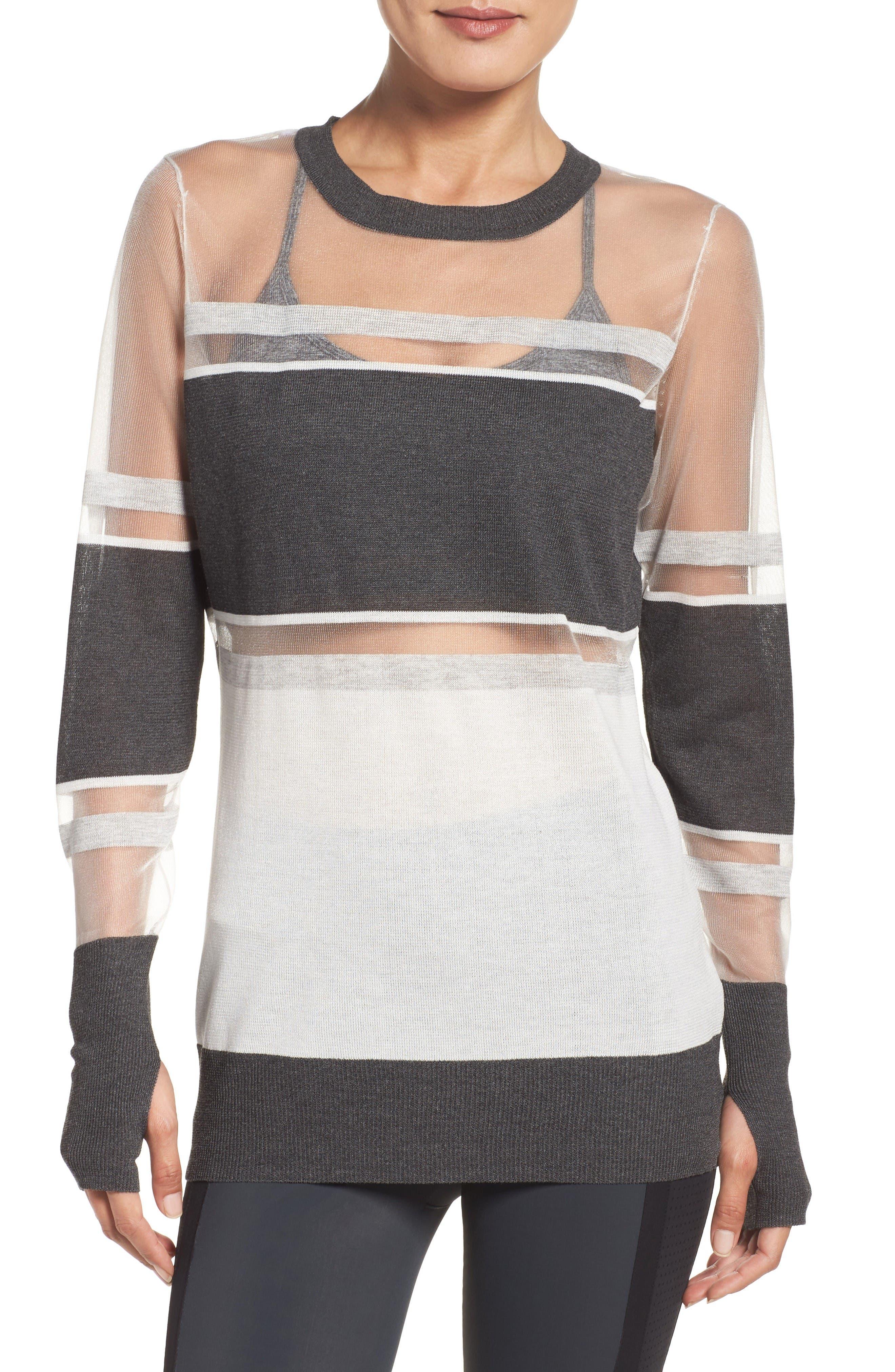 Blanc Noir Vision Mesh Sweatshirt