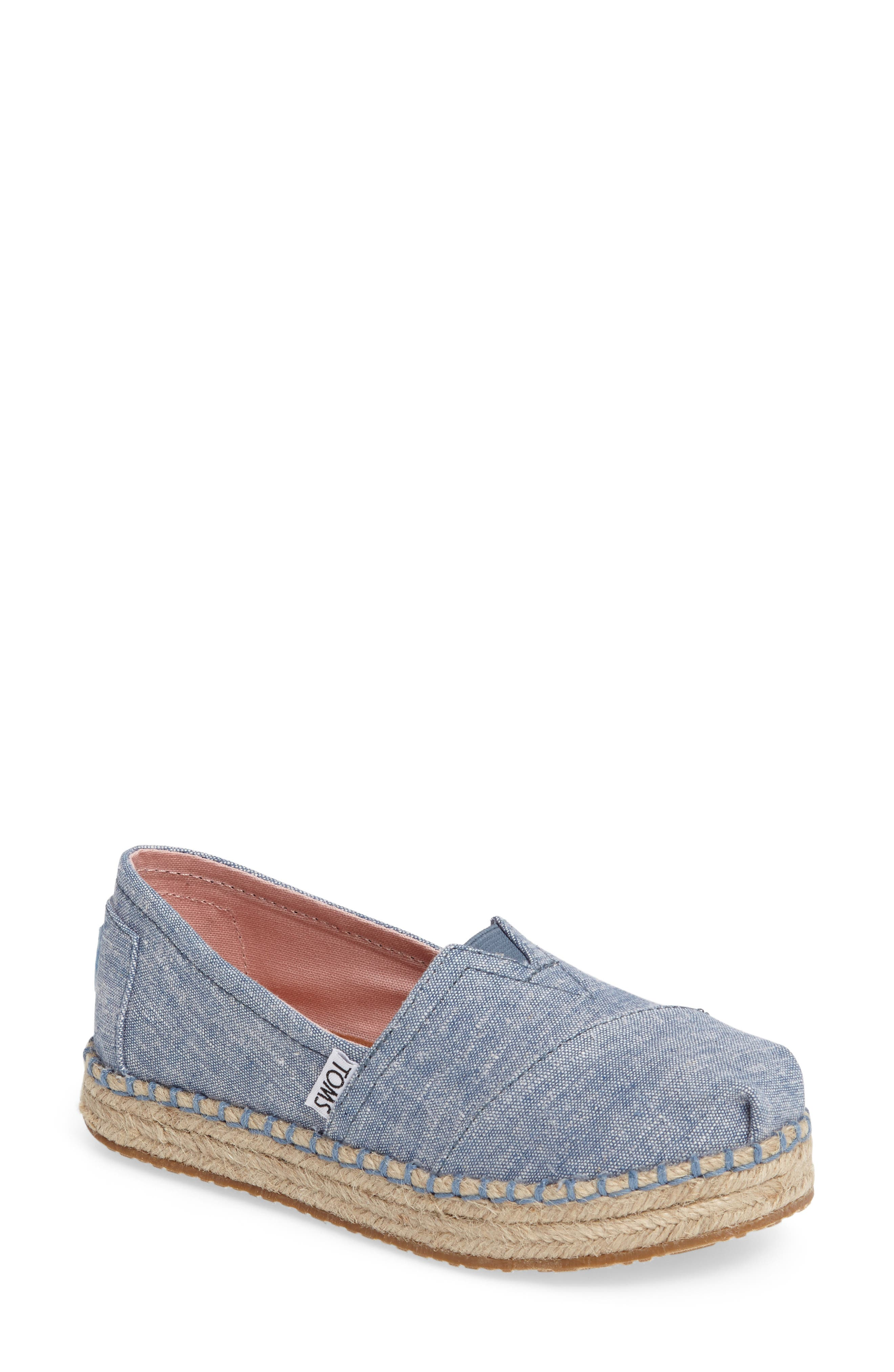TOMS Platform Espadrille Slip-On (Walker, Toddler, Little Kid & Big Kid)