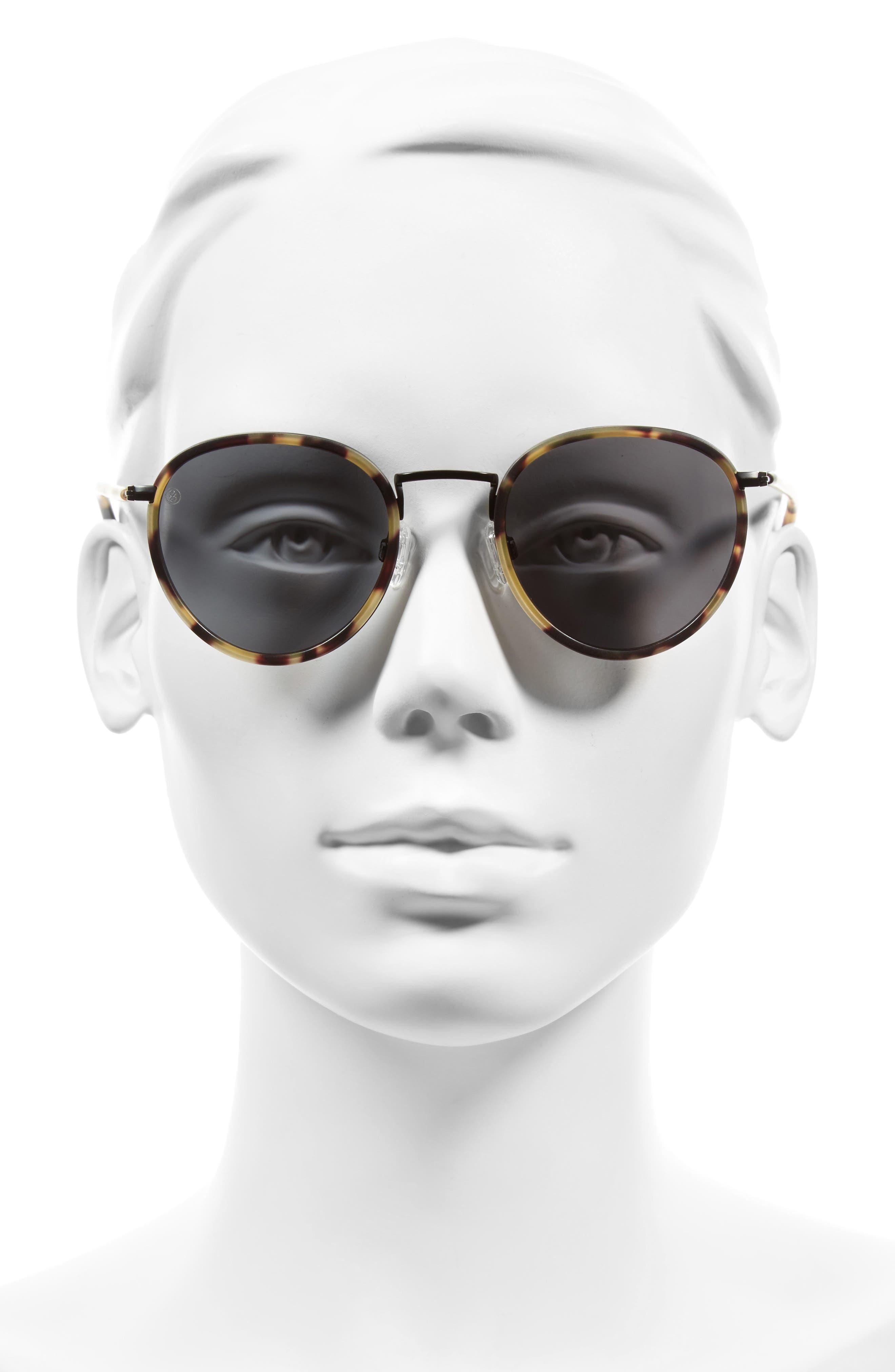 Alternate Image 2  - D'BLANC Prologue 48mm Round Sunglasses