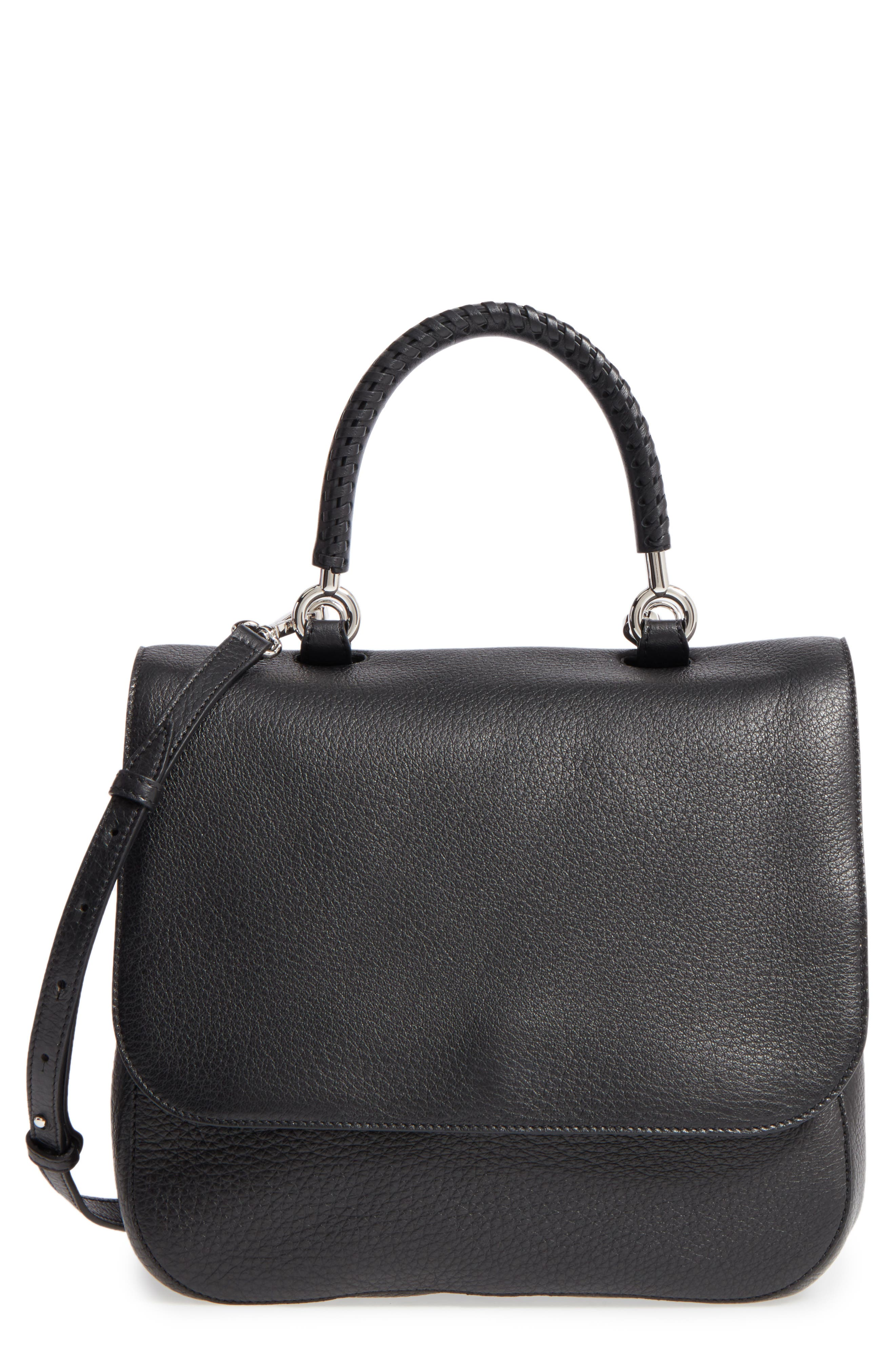 Max Mara Top Handle Leather Satchel