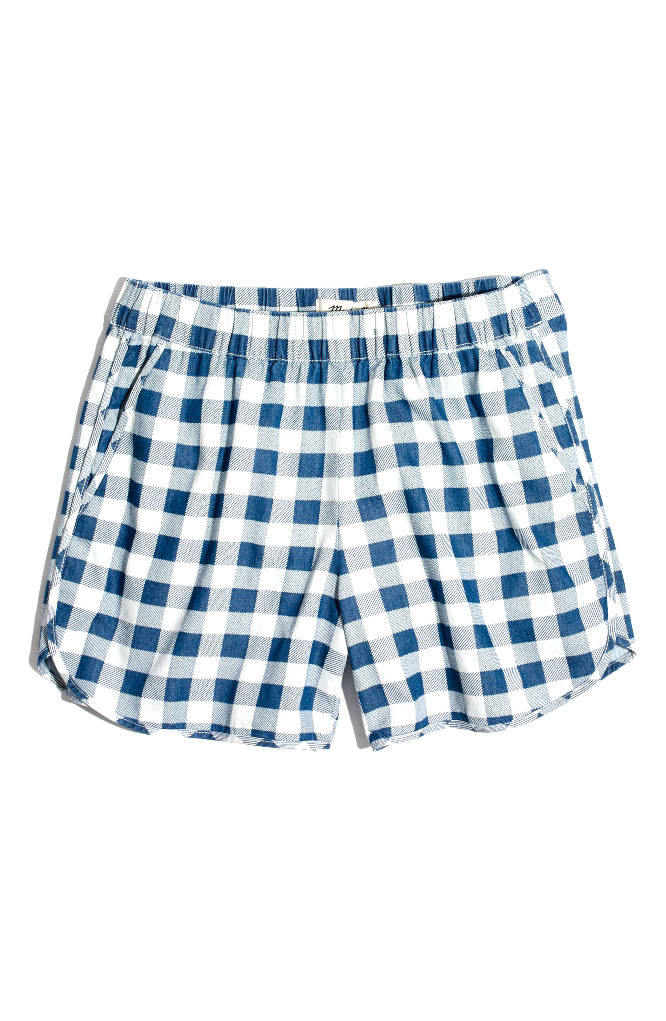 Alternate Image 5  - Madewell Gingham Check Pull-On Shorts