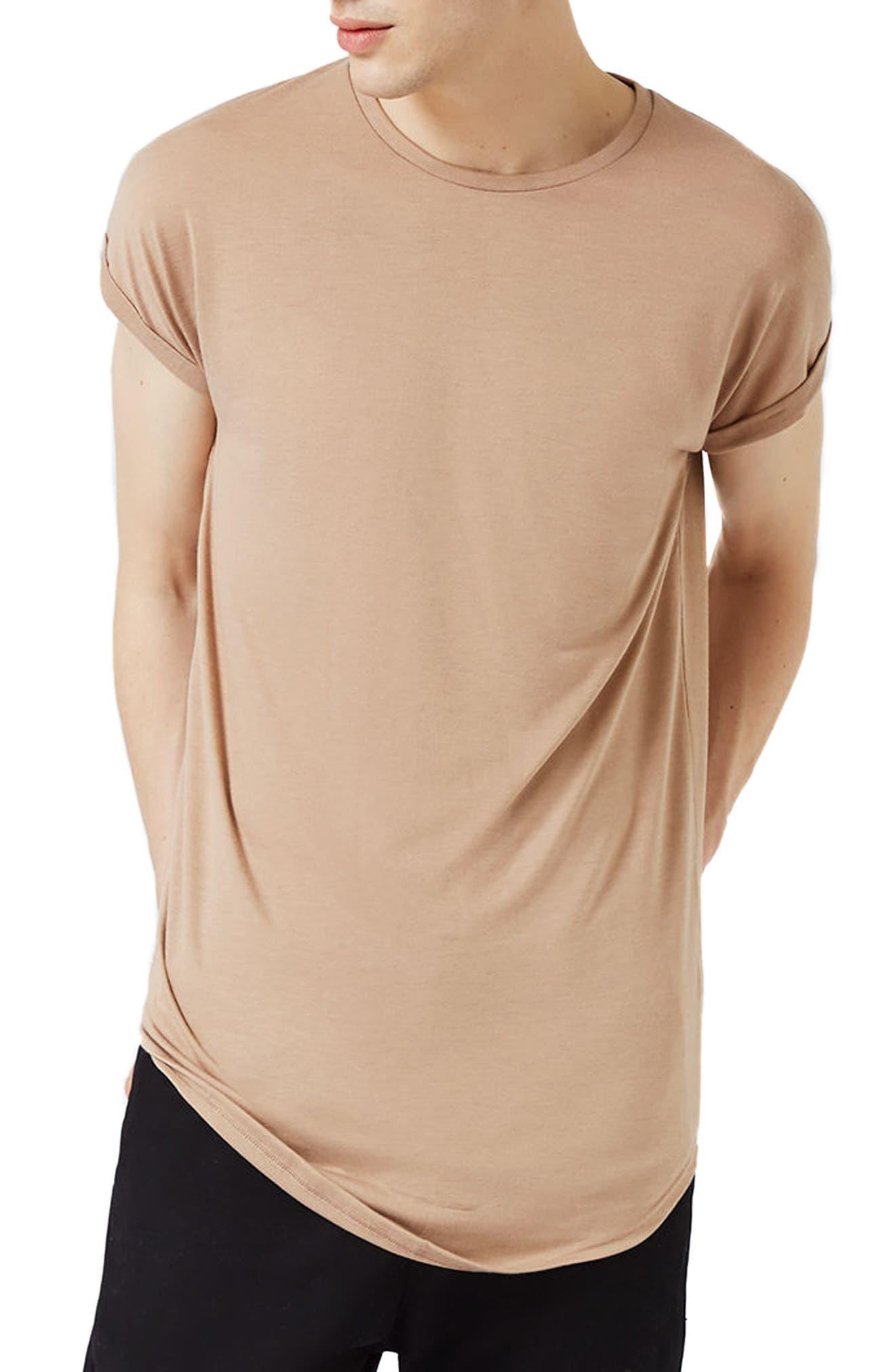 Topman Cap Sleeve Longline T-Shirt