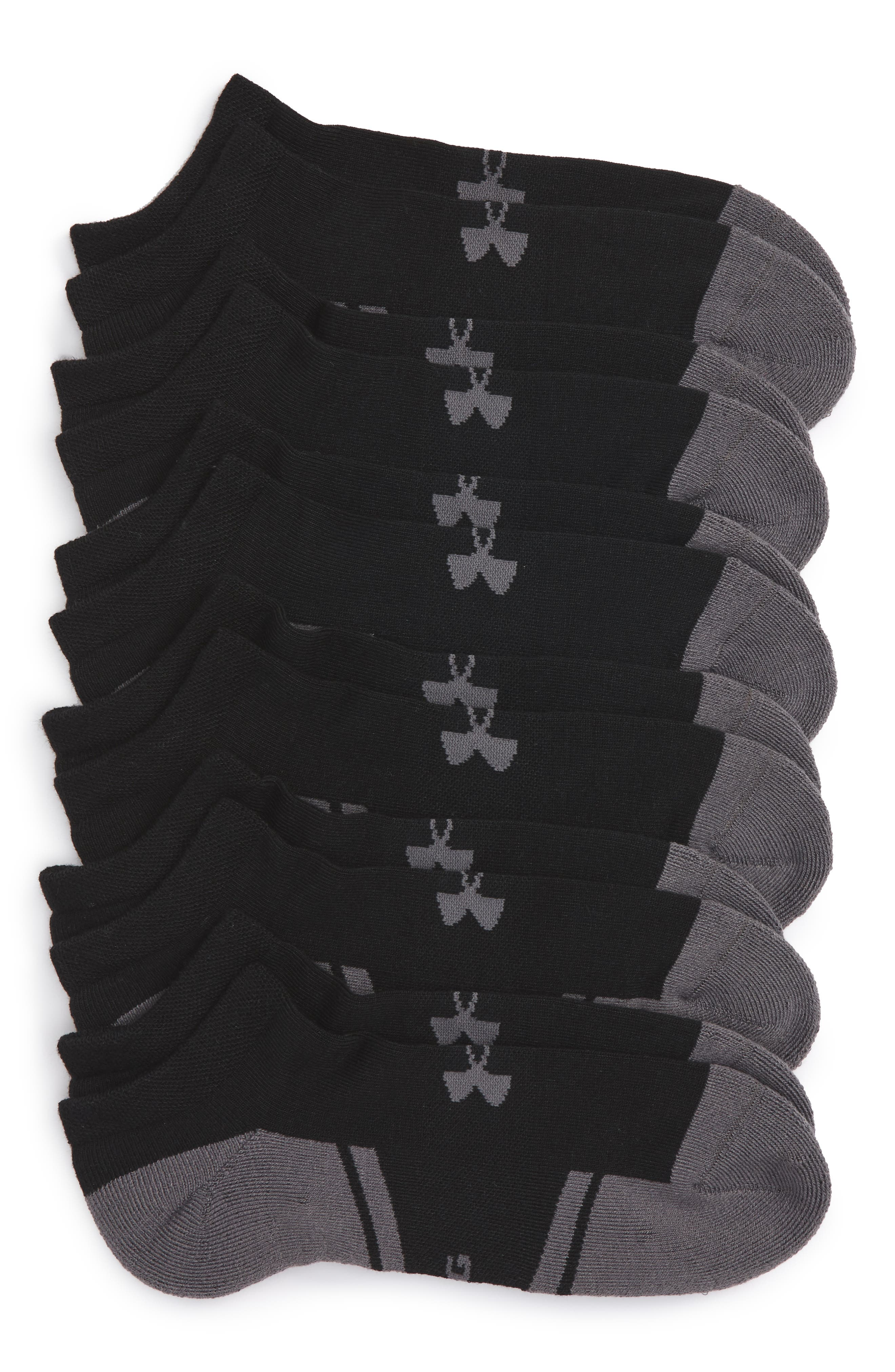 Under Armour Resistor 3.0 6-Pack No-Show Socks