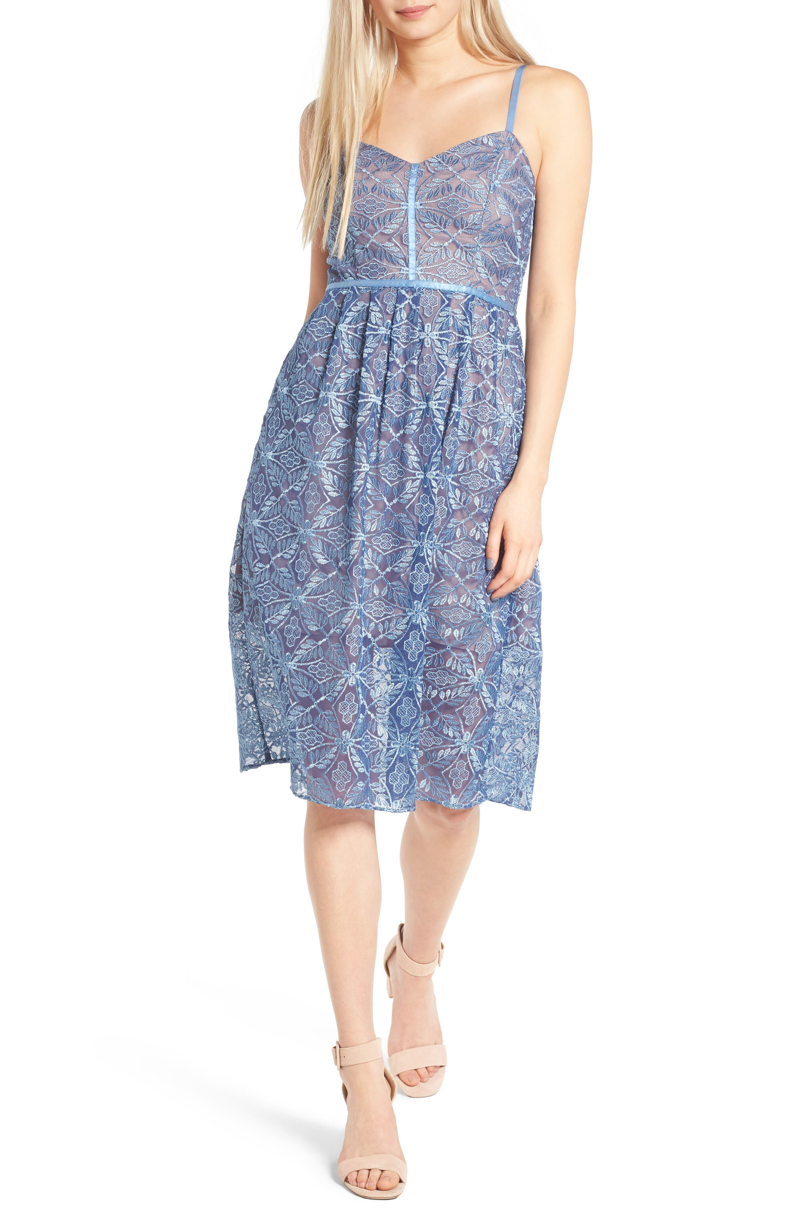 devlin Eloise Embroidered Lace Slipdress
