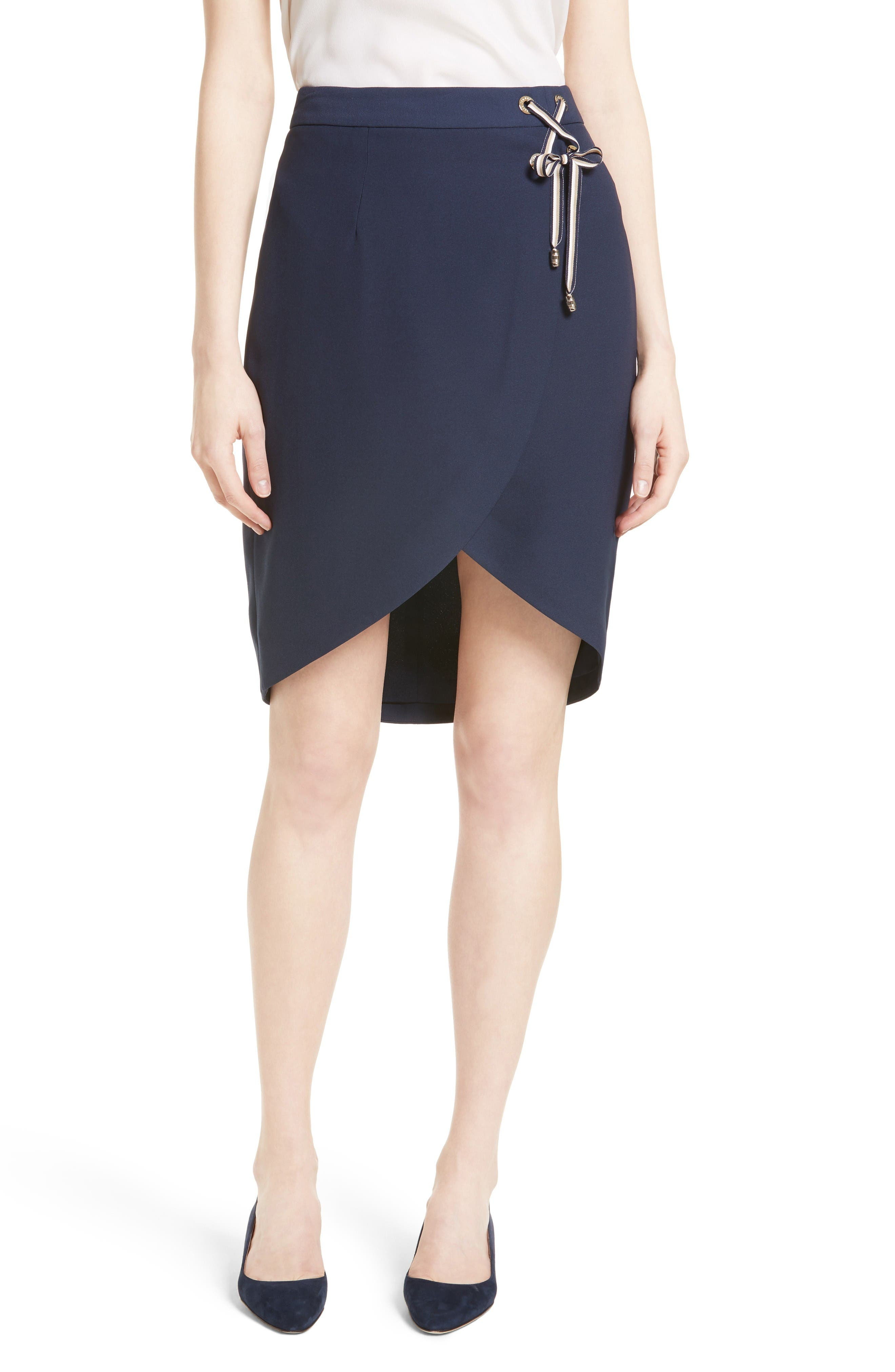 Alternate Image 1 Selected - Ted Baker London Yooy Crossover Front Skirt