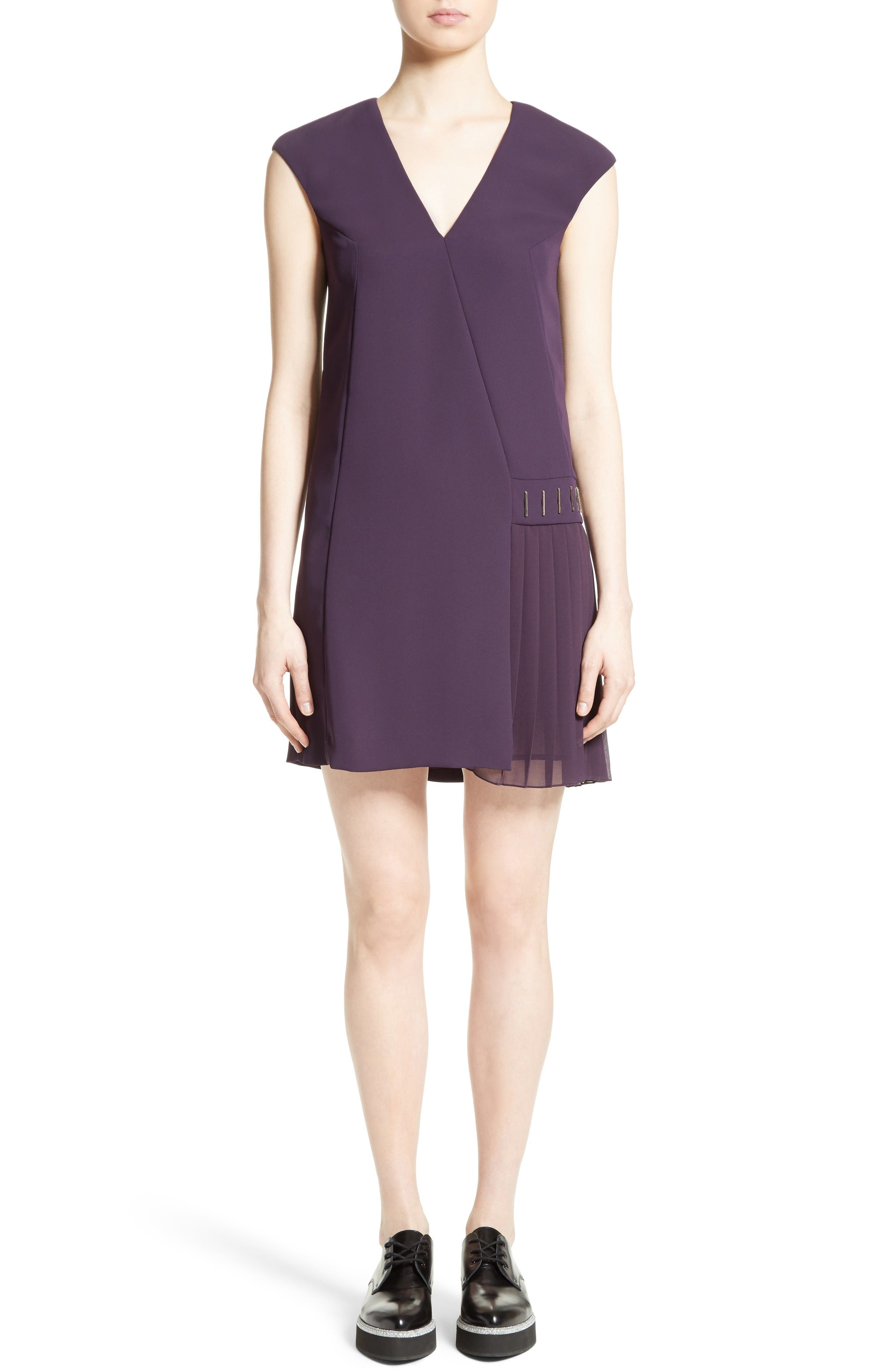 Alternate Image 1 Selected - Versace Collection Side Pleat Dress