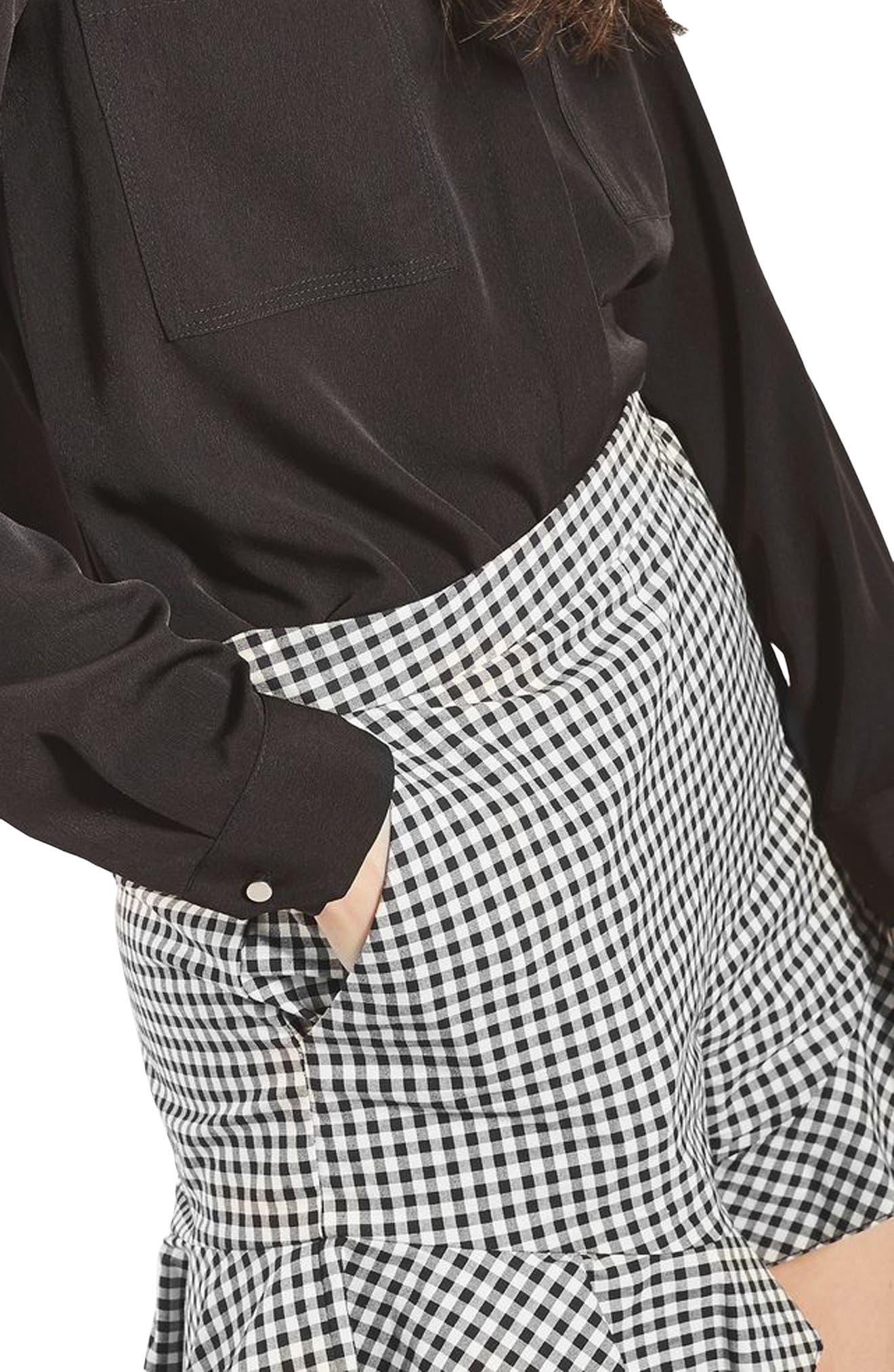 Alternate Image 6  - Topshop Gingham Frill Shorts