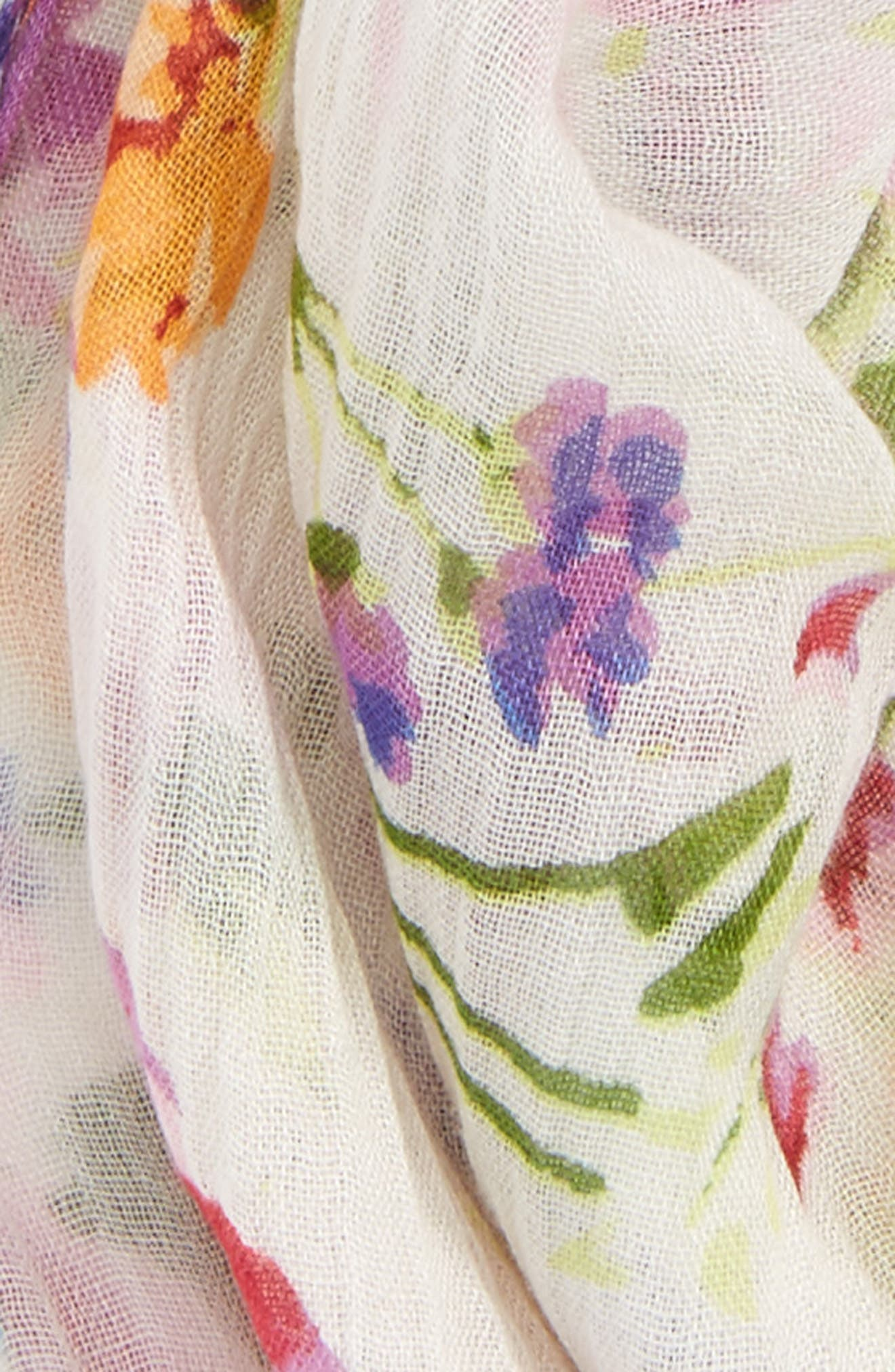 Alternate Image 3  - Sole Society Floral Neck Scarf