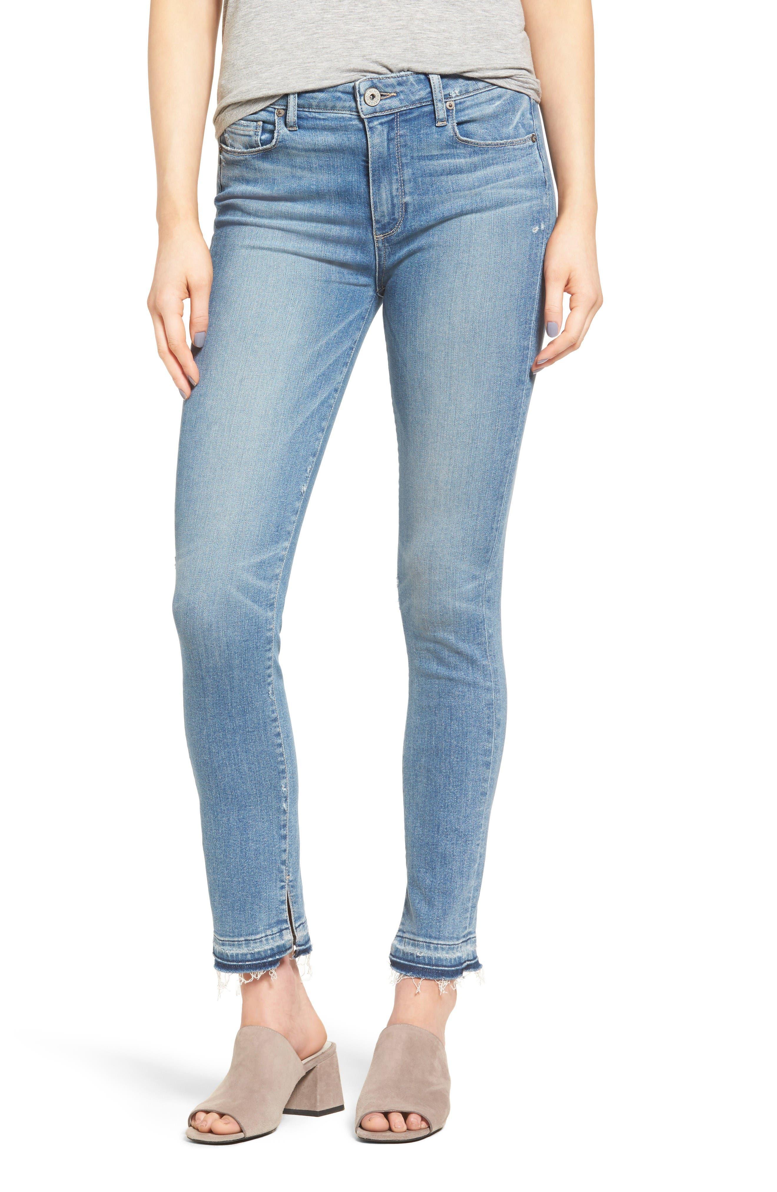 PAIGE Hoxton High Waist Ankle Peg Skinny Jeans (Palmer)
