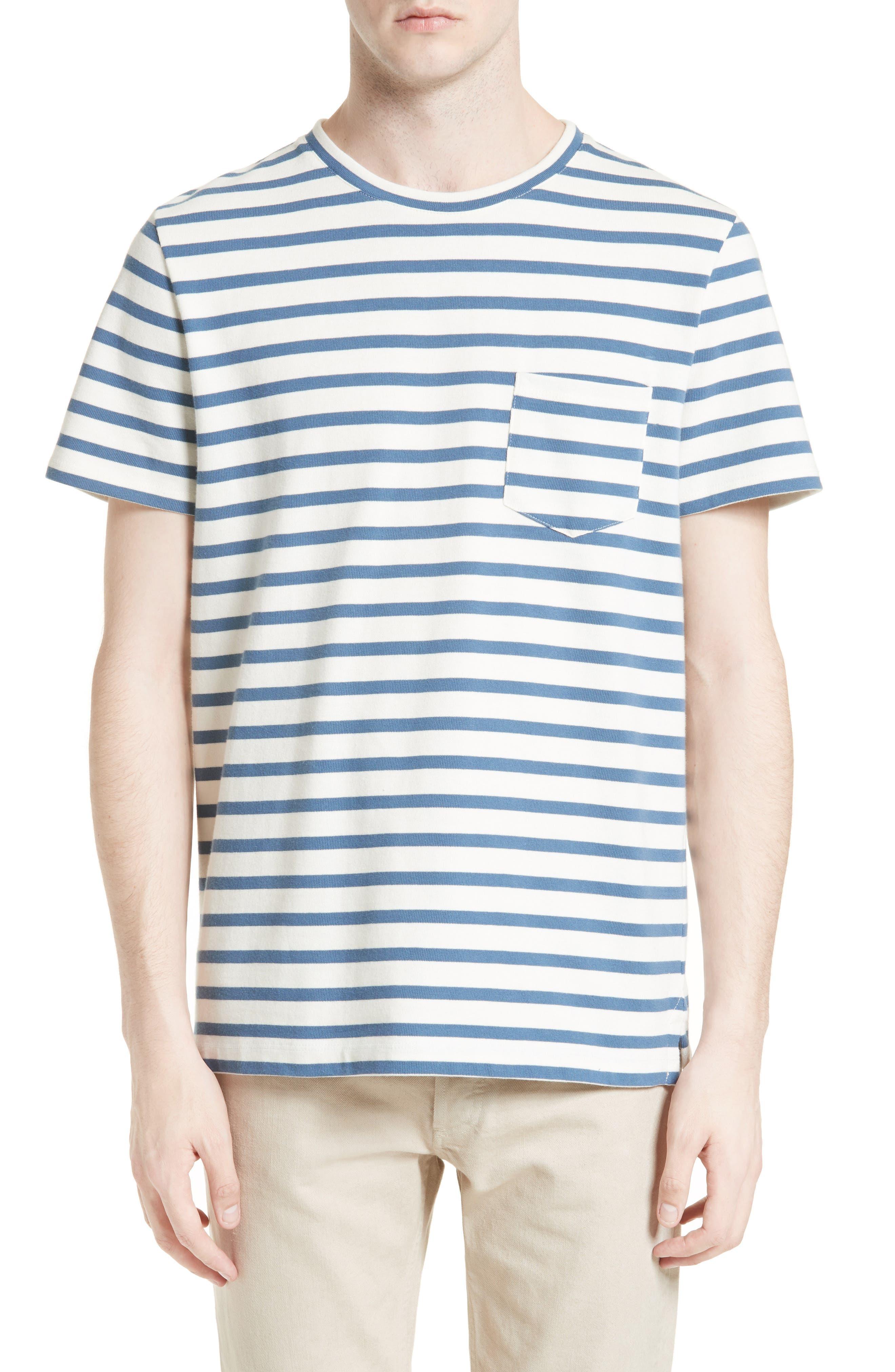 A.P.C. Michael Stripe Pocket T-Shirt