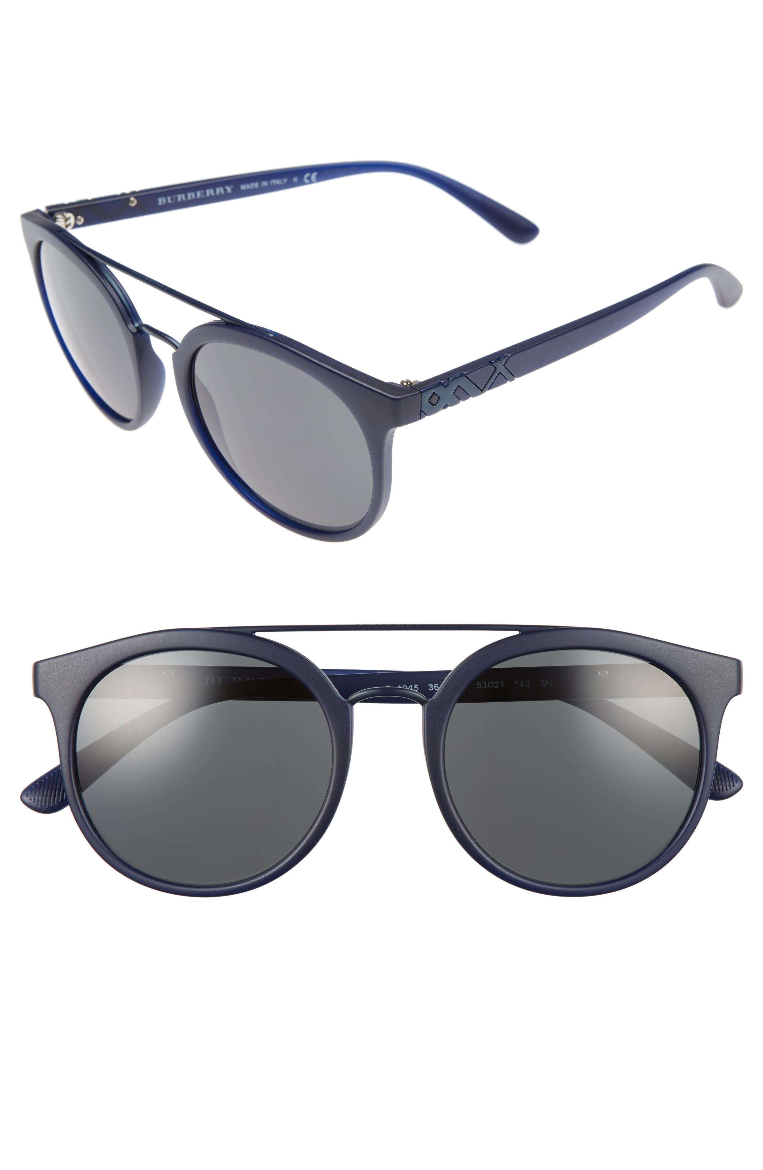 Burberry 53mm Round Sunglasses