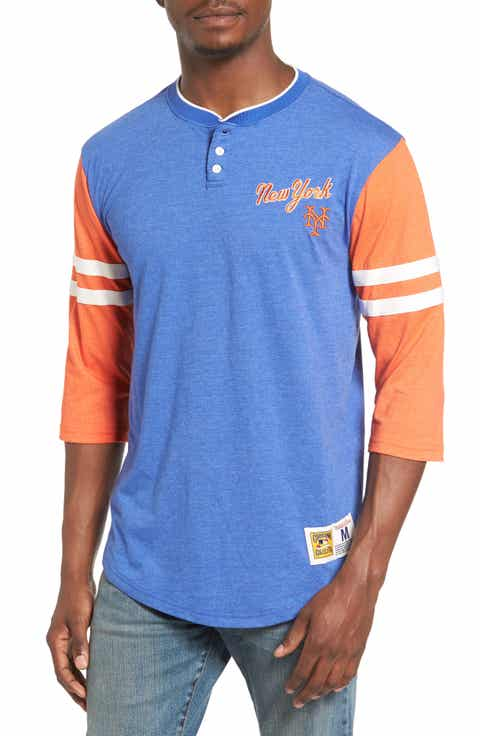 Mitchell   Ness Home Stretch - New York Mets Henley