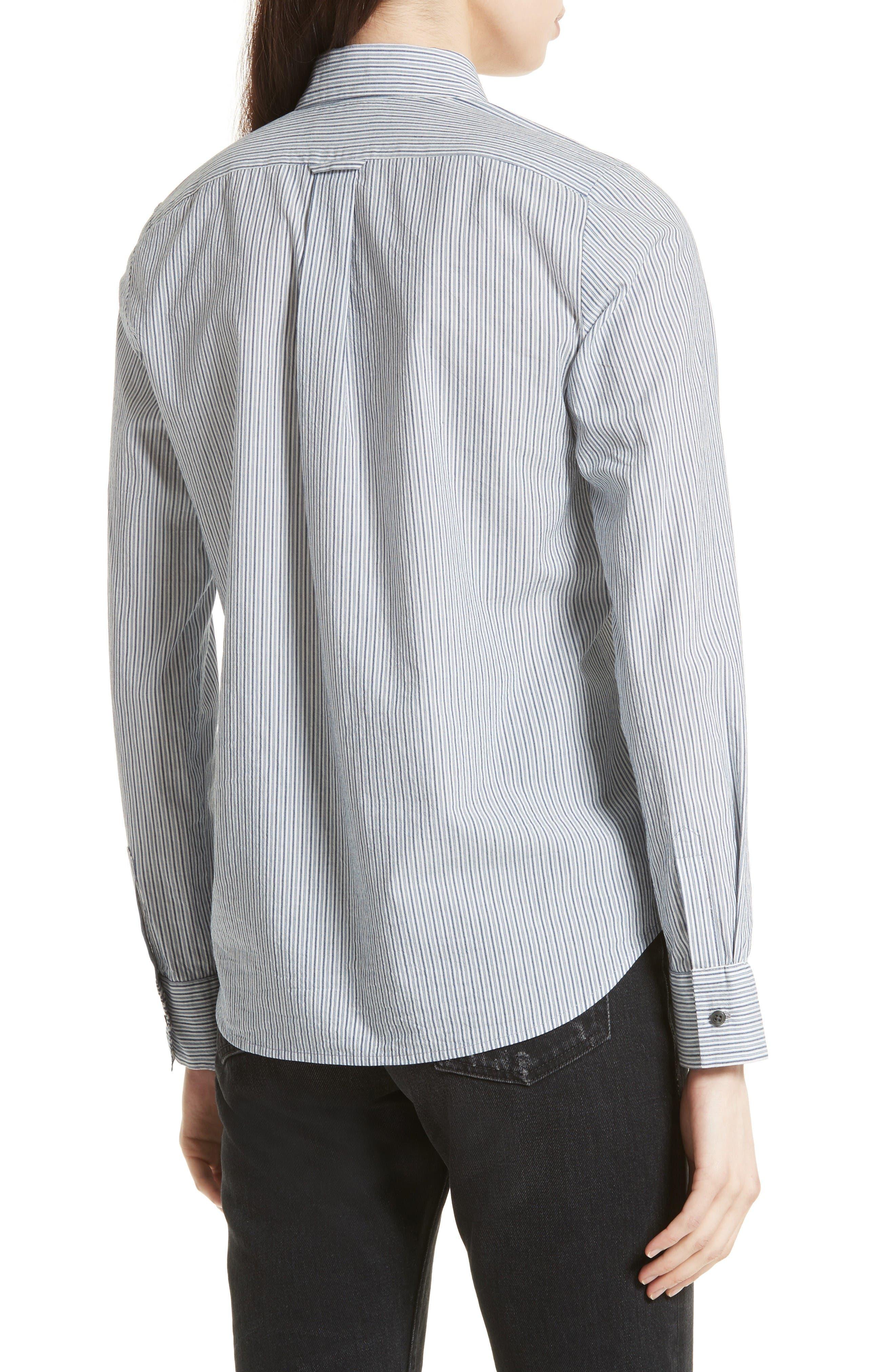 Alternate Image 3  - Vince Mix Stripe Silk Shirt