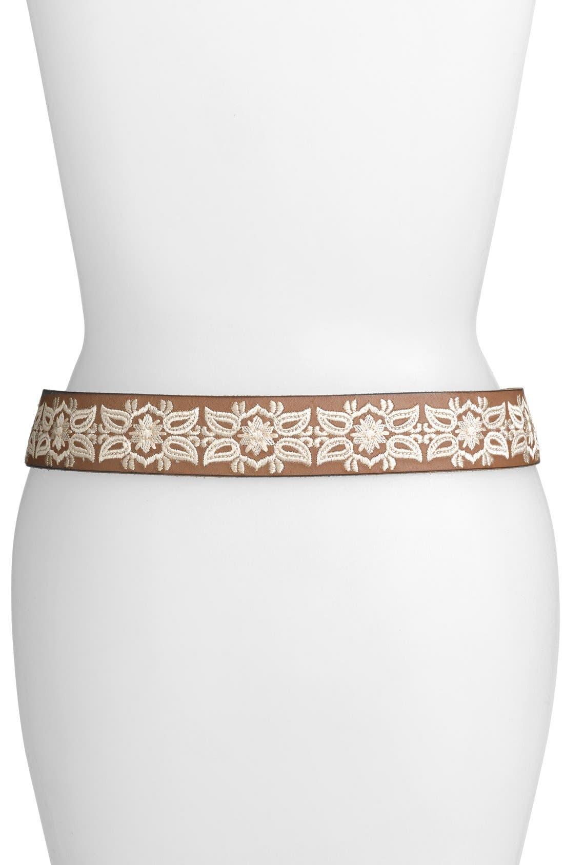 Alternate Image 2  - Lucky Brand Embroidered Floral Belt