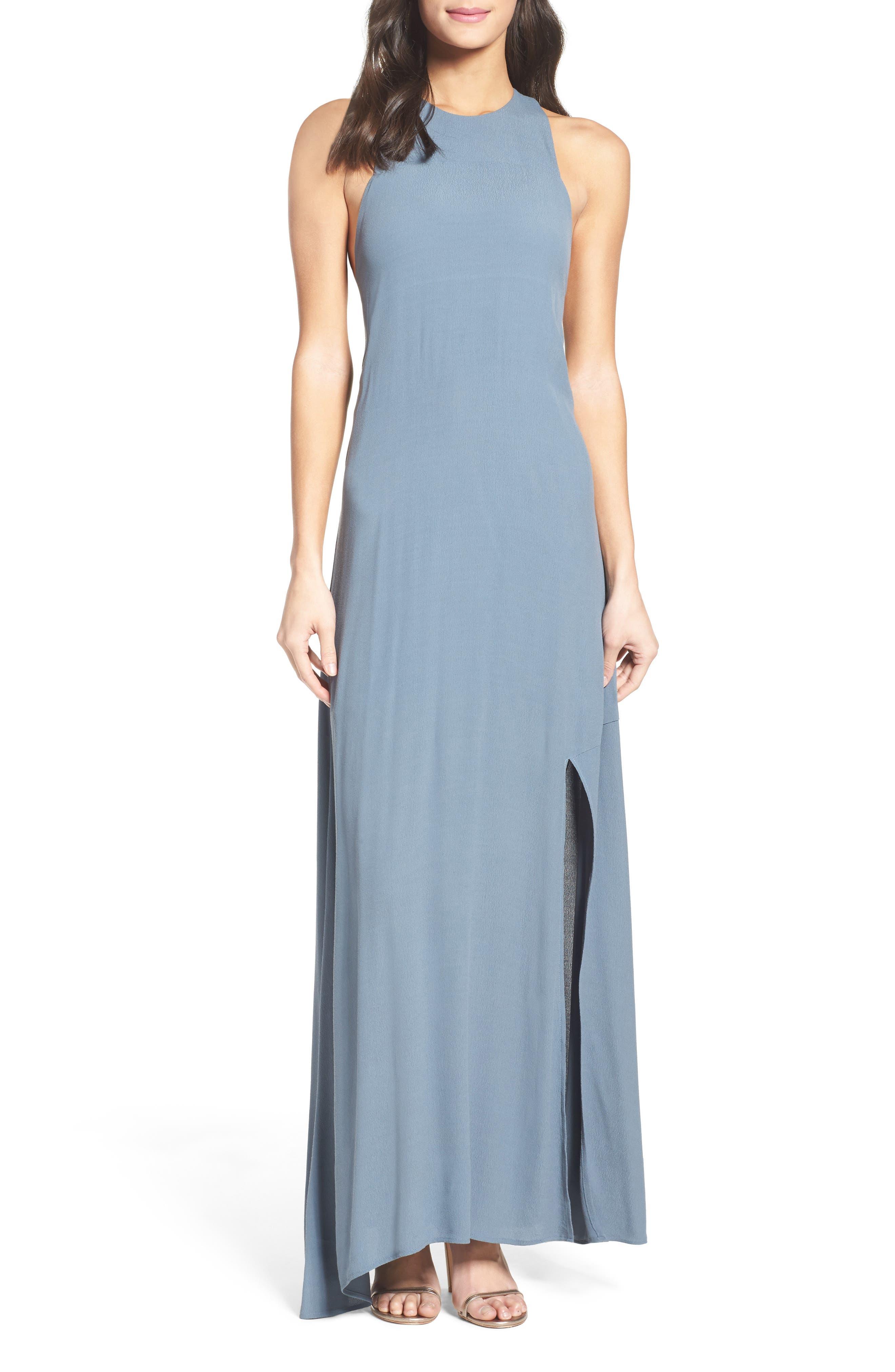 Main Image - Roe + May Bordeaux Crepe Dress