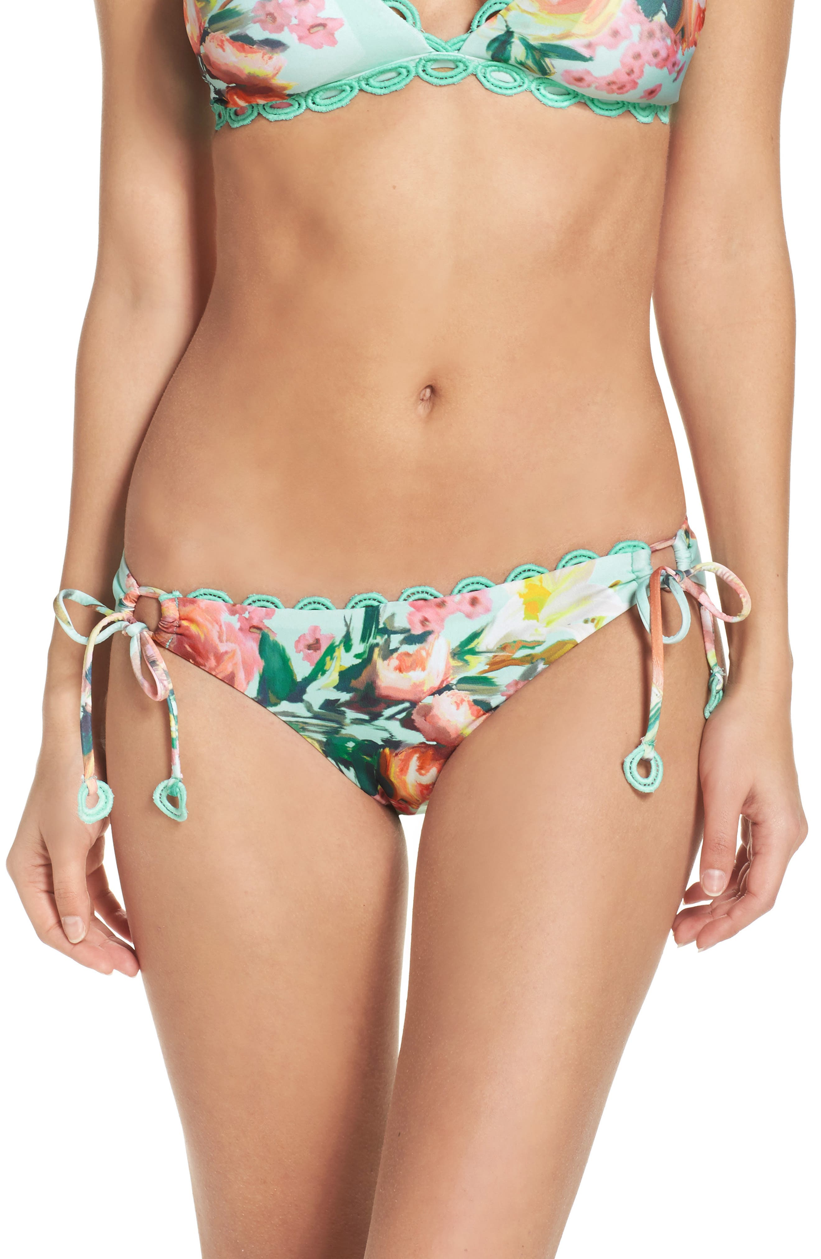 Becca High Tea Side Tie Bikini Bottoms