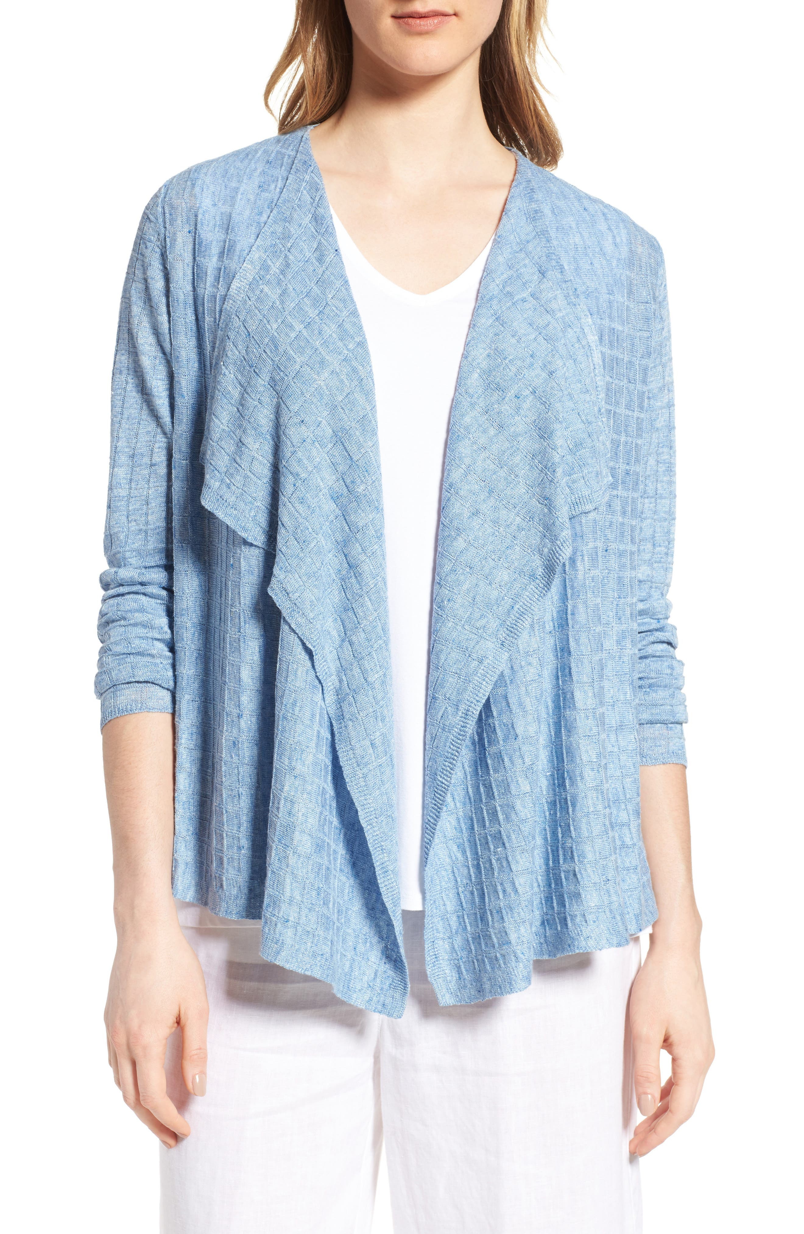 Eileen Fisher Angle Front Linen Cardigan