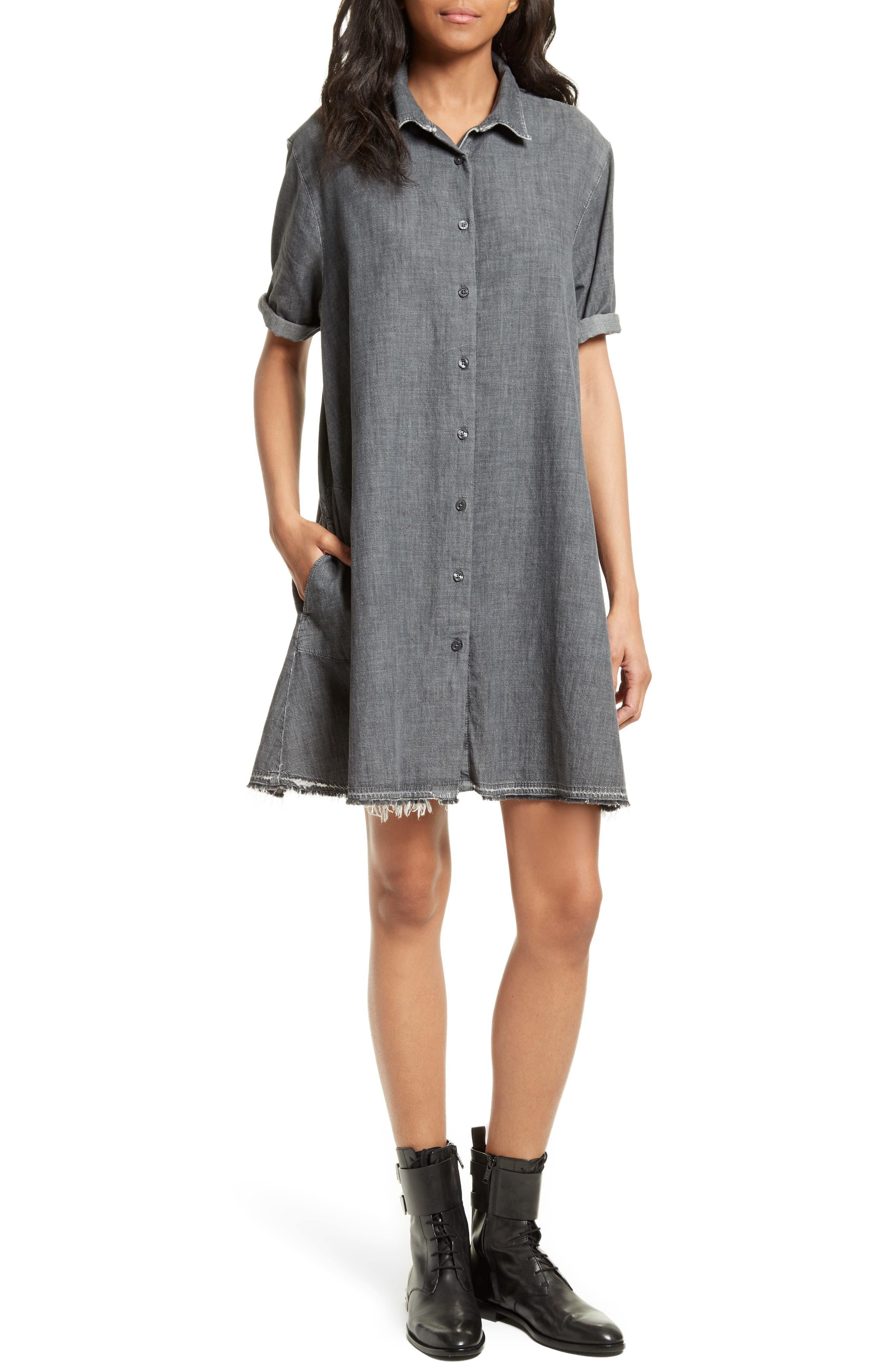 THE GREAT. The Bias Shirtdress