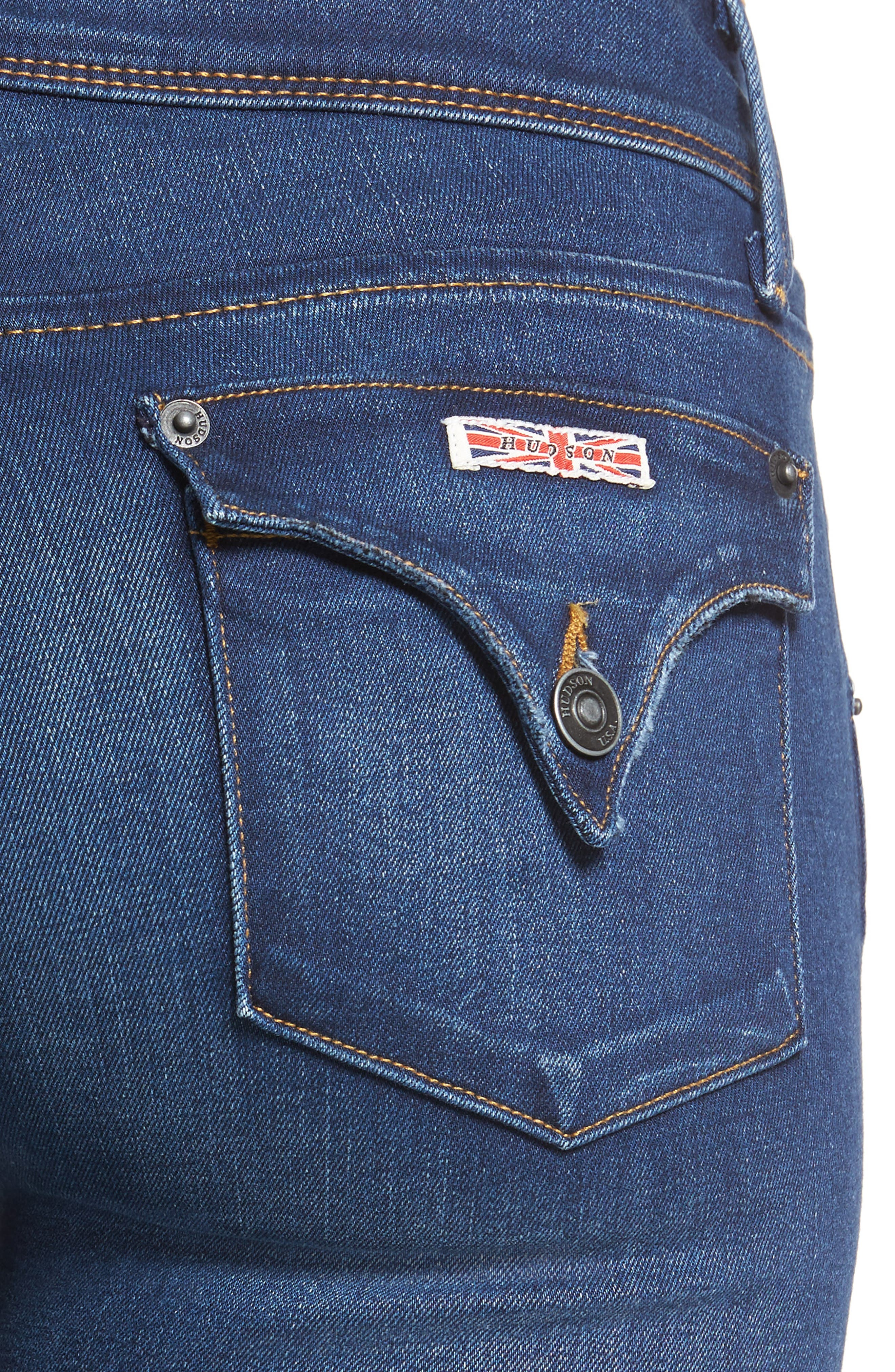 Alternate Image 4  - Hudson Jeans 'Elysian - Collin' Mid Rise Skinny Jeans (Authentic)