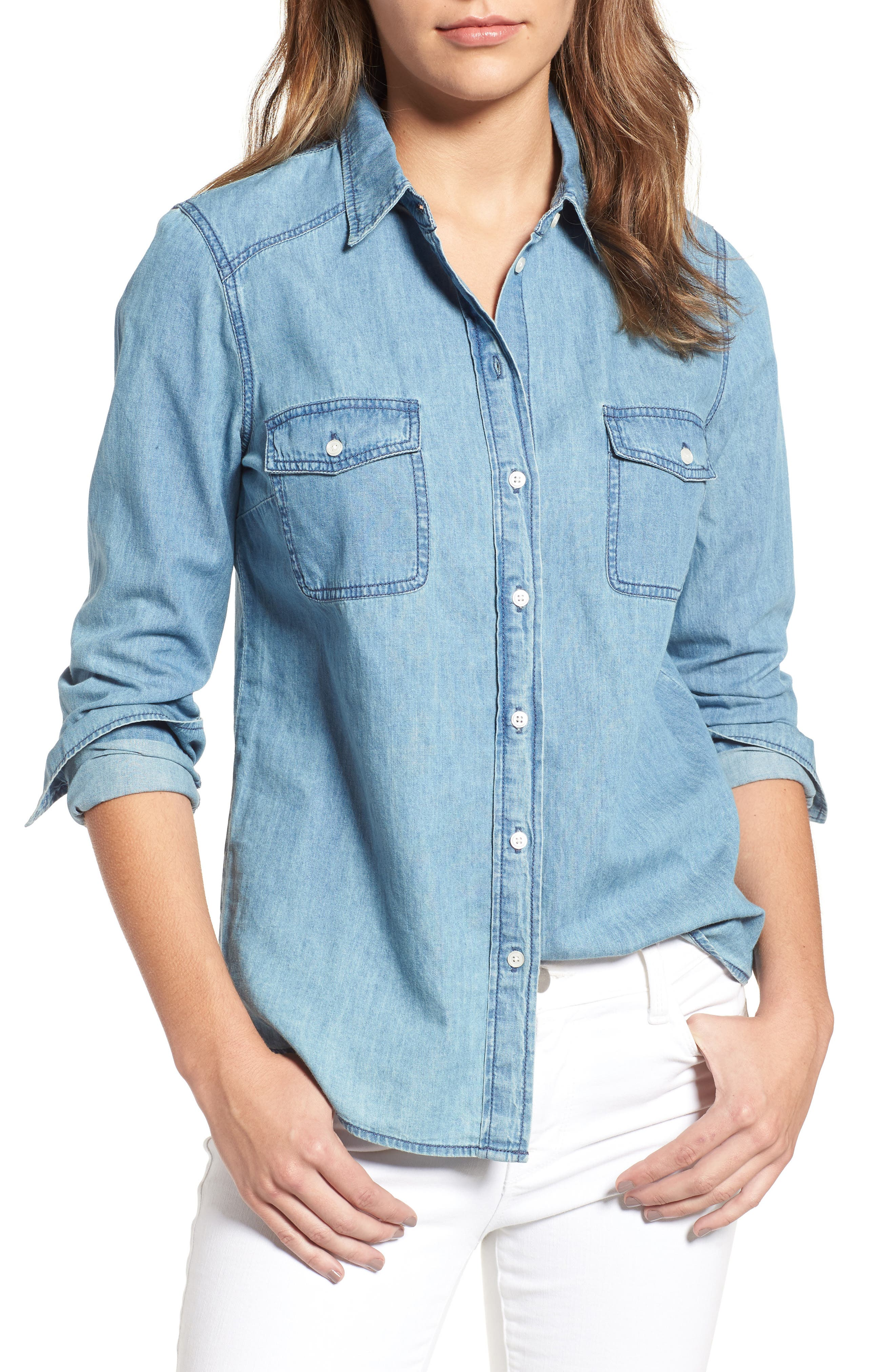 Alternate Image 1 Selected - cupcakes and cashmere Catalina Denim Shirt