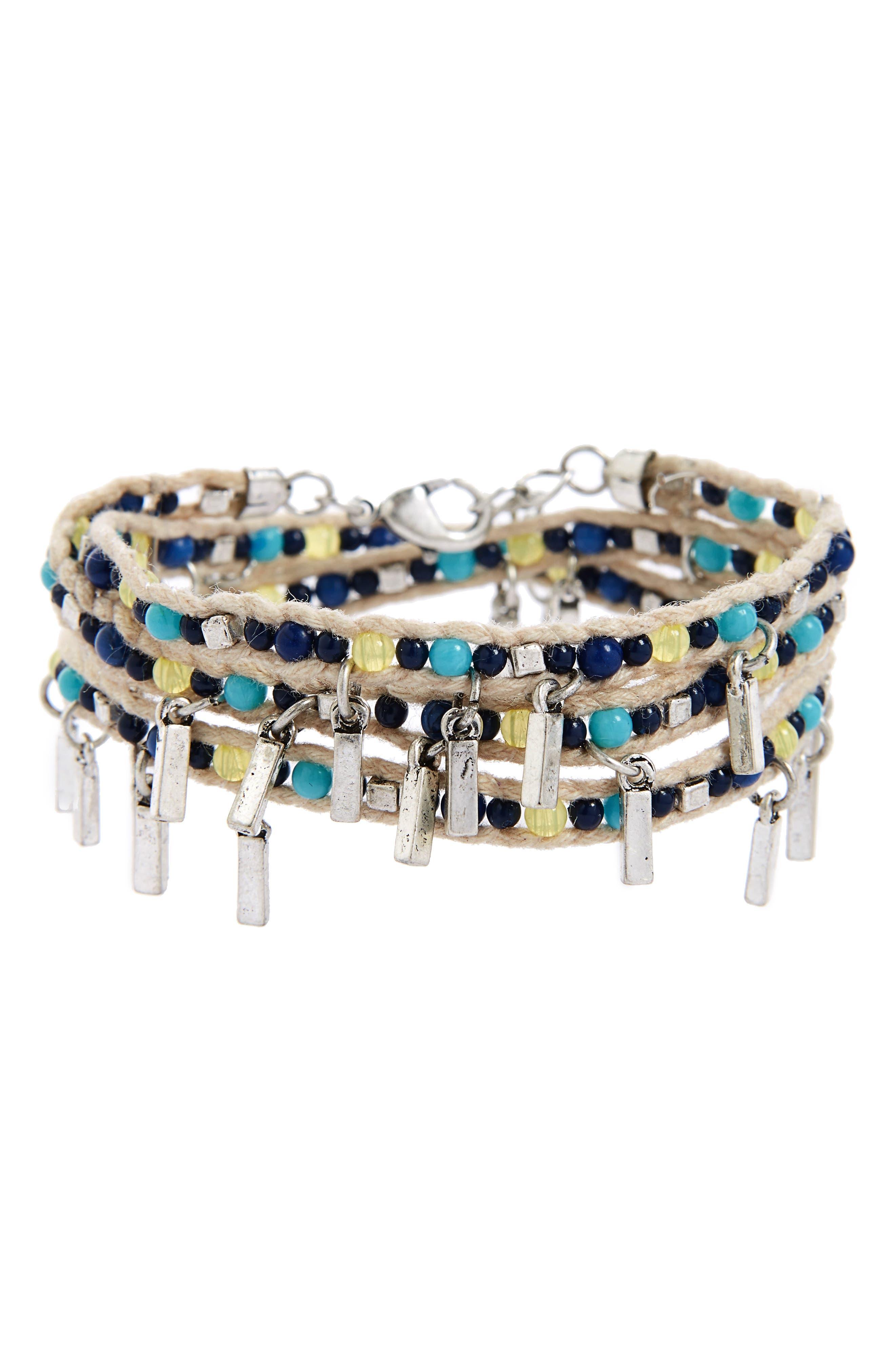 Main Image - Treasure & Bond Beaded Wrap Bracelet